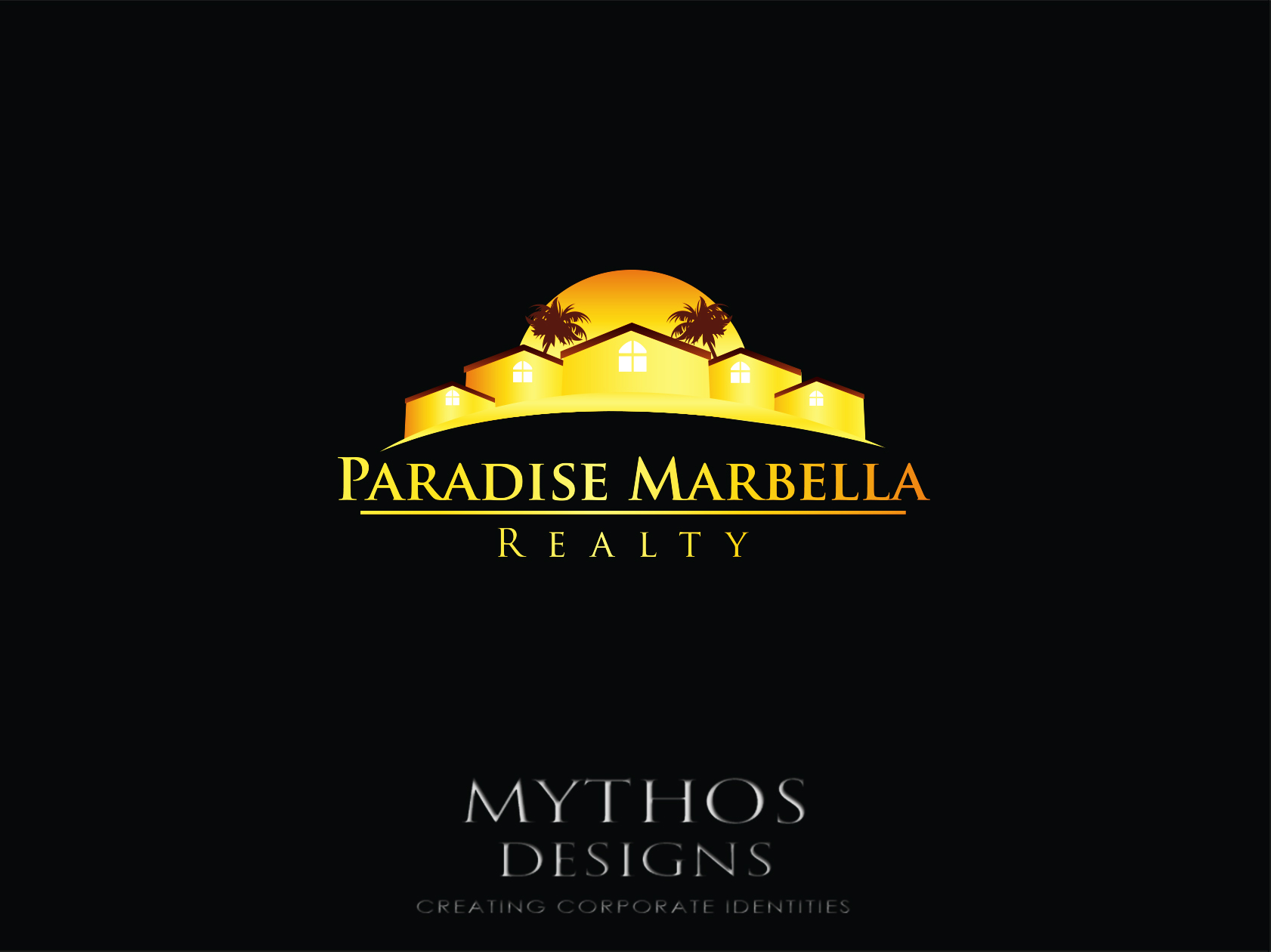 Logo Design by Mythos Designs - Entry No. 49 in the Logo Design Contest Captivating Logo Design for Paradise Marbella Realty.