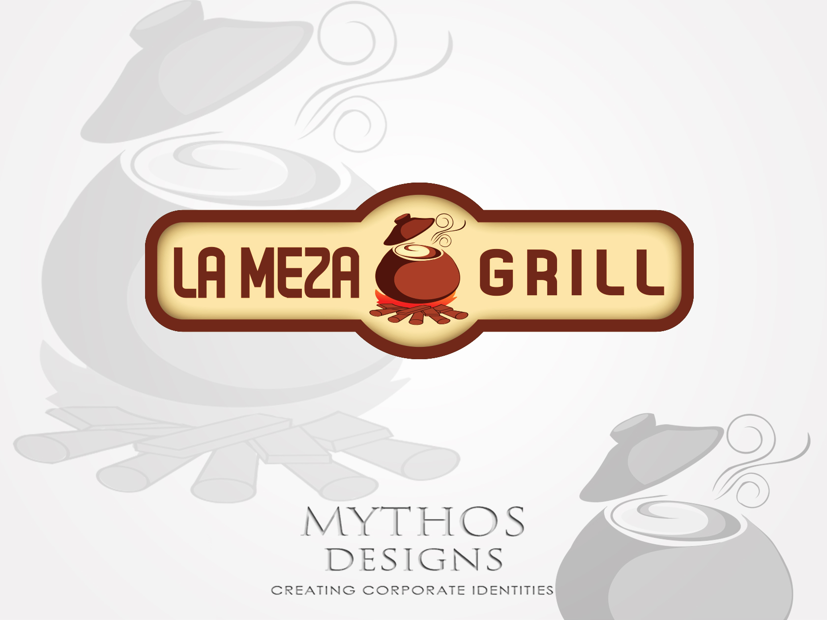 Logo Design by Mythos Designs - Entry No. 22 in the Logo Design Contest Inspiring Logo Design for La Meza Grill Ltd..