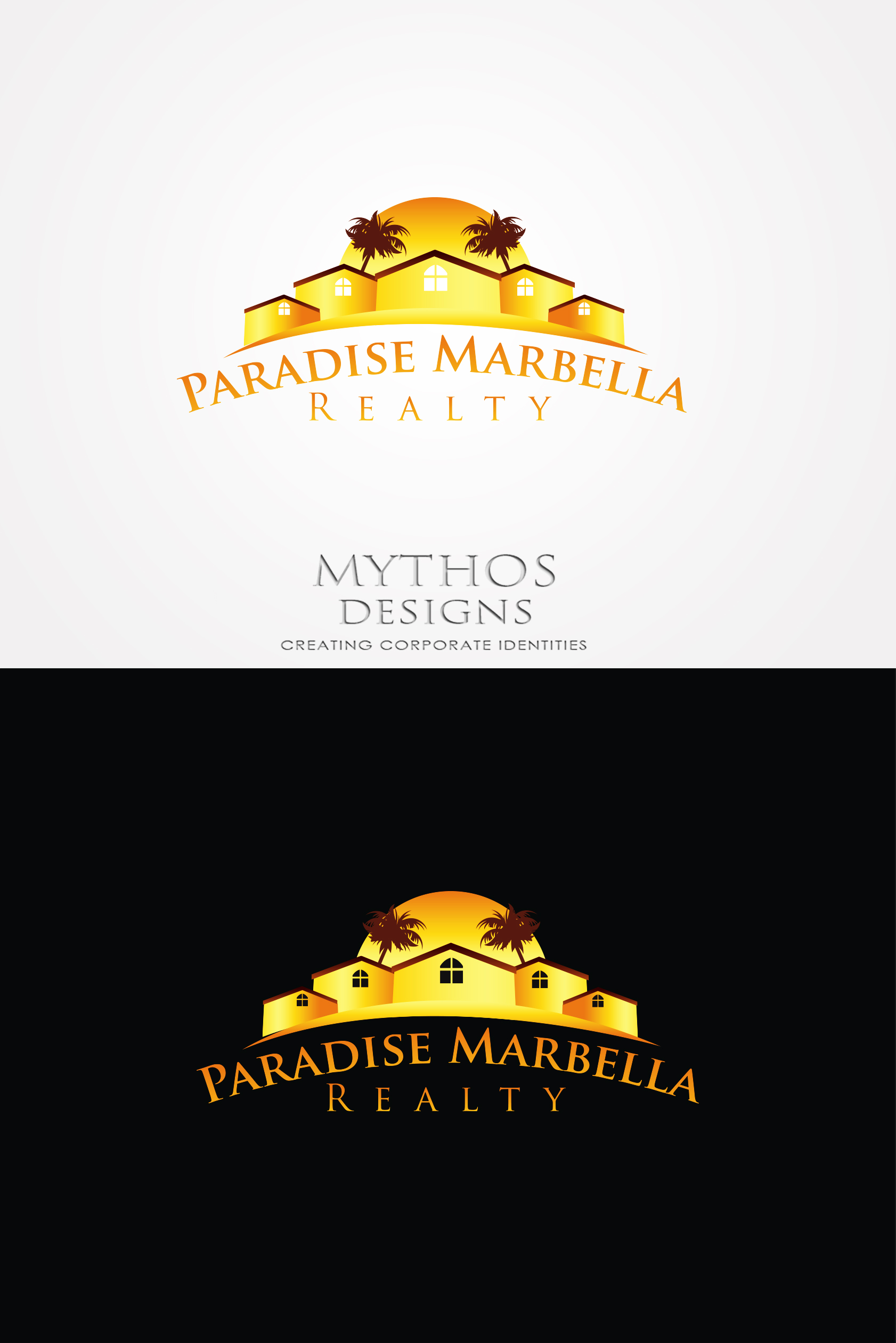 Logo Design by Mythos Designs - Entry No. 63 in the Logo Design Contest Captivating Logo Design for Paradise Marbella Realty.