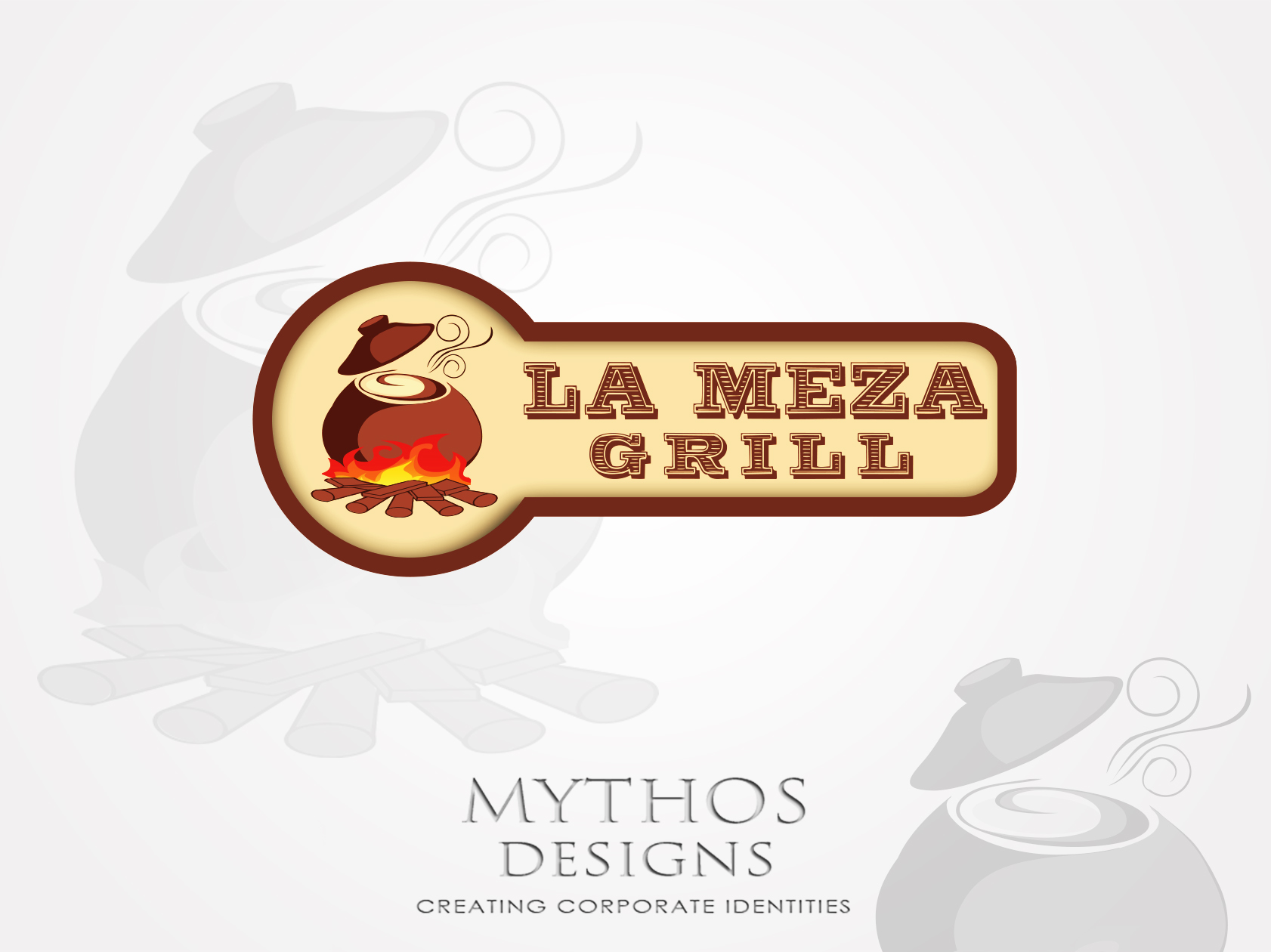 Logo Design by Mythos Designs - Entry No. 25 in the Logo Design Contest Inspiring Logo Design for La Meza Grill Ltd..