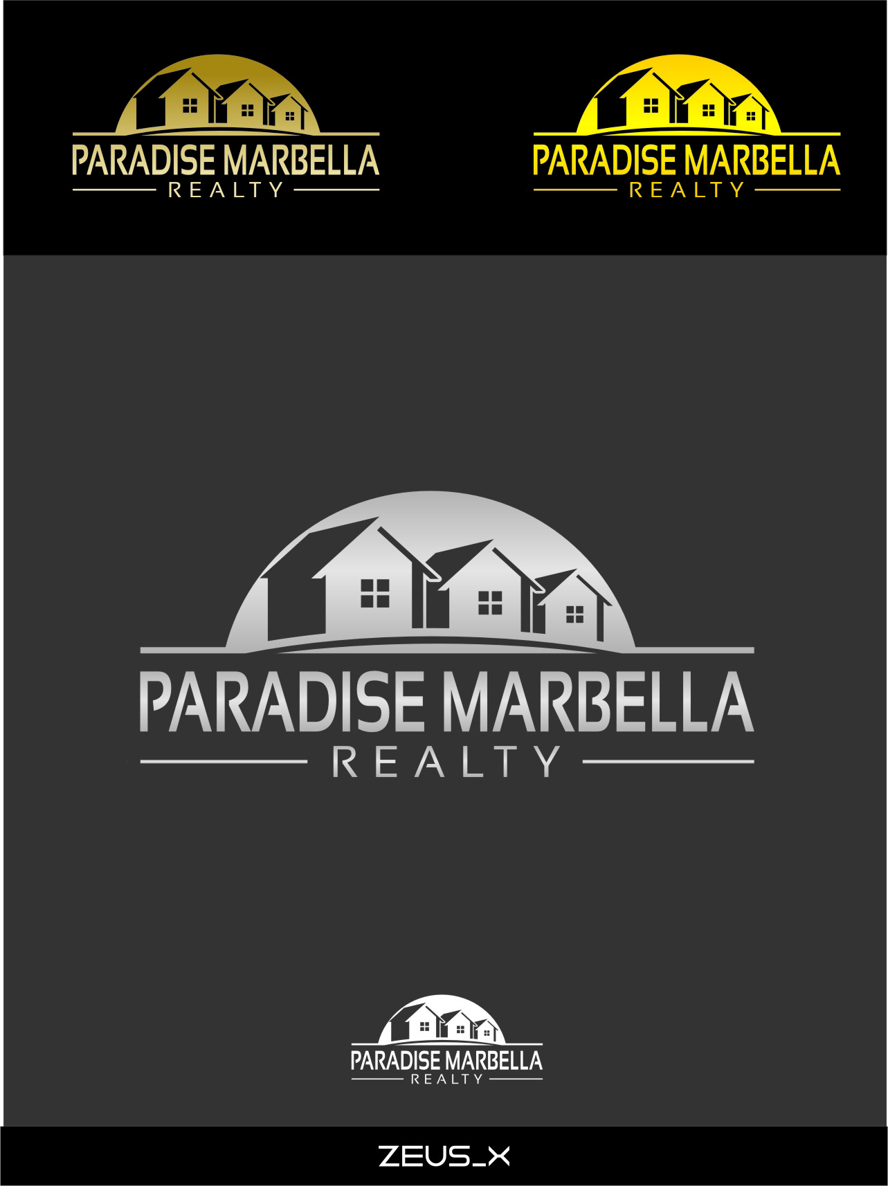 Logo Design by RoSyid Rono-Rene On Java - Entry No. 64 in the Logo Design Contest Captivating Logo Design for Paradise Marbella Realty.