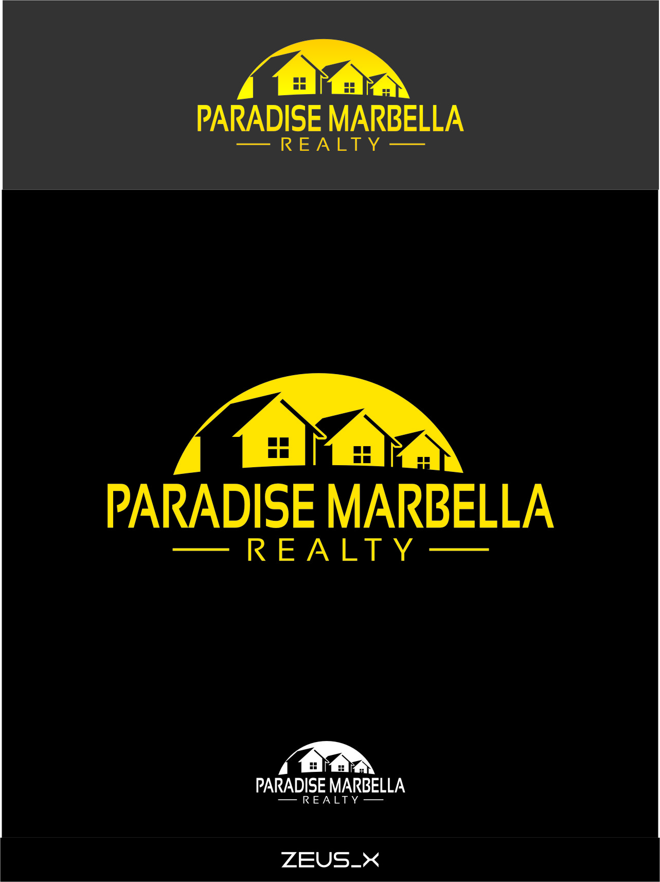 Logo Design by RasYa Muhammad Athaya - Entry No. 65 in the Logo Design Contest Captivating Logo Design for Paradise Marbella Realty.
