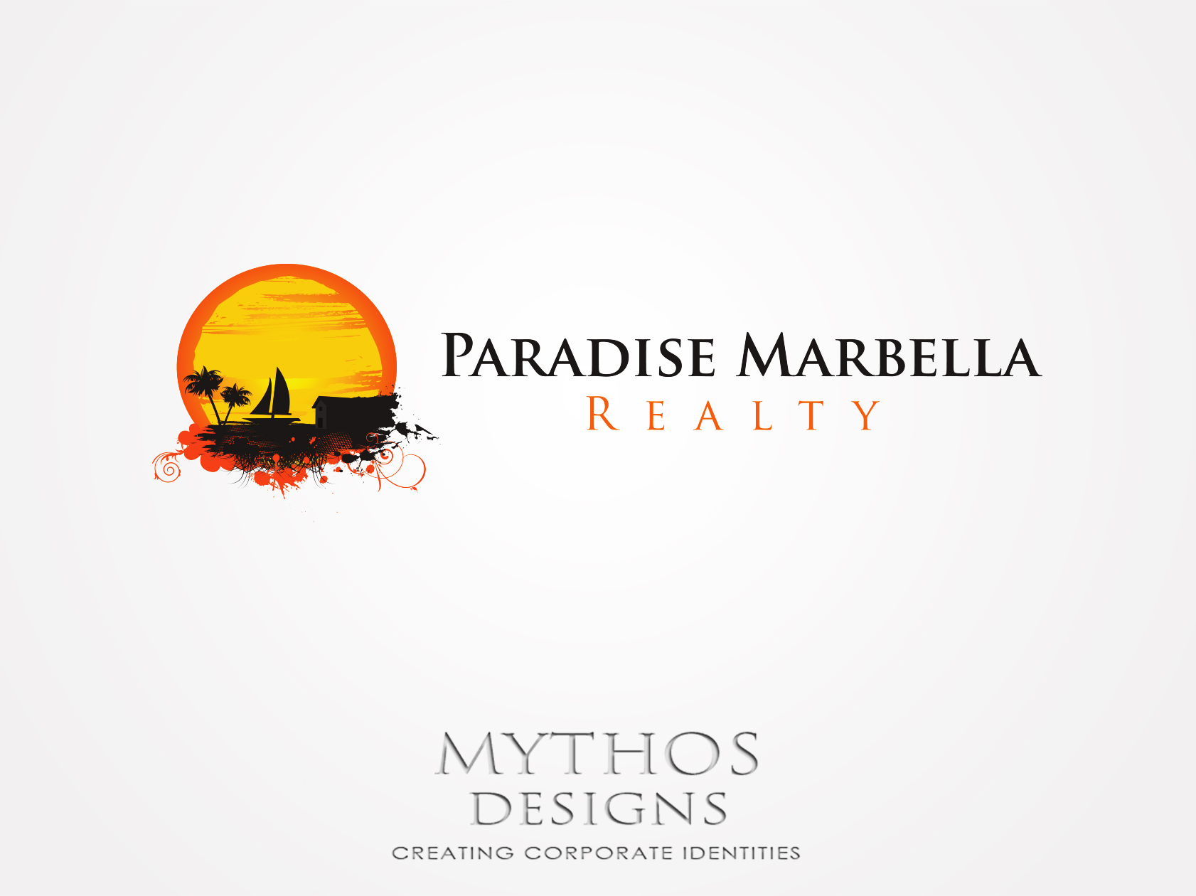 Logo Design by Mythos Designs - Entry No. 66 in the Logo Design Contest Captivating Logo Design for Paradise Marbella Realty.