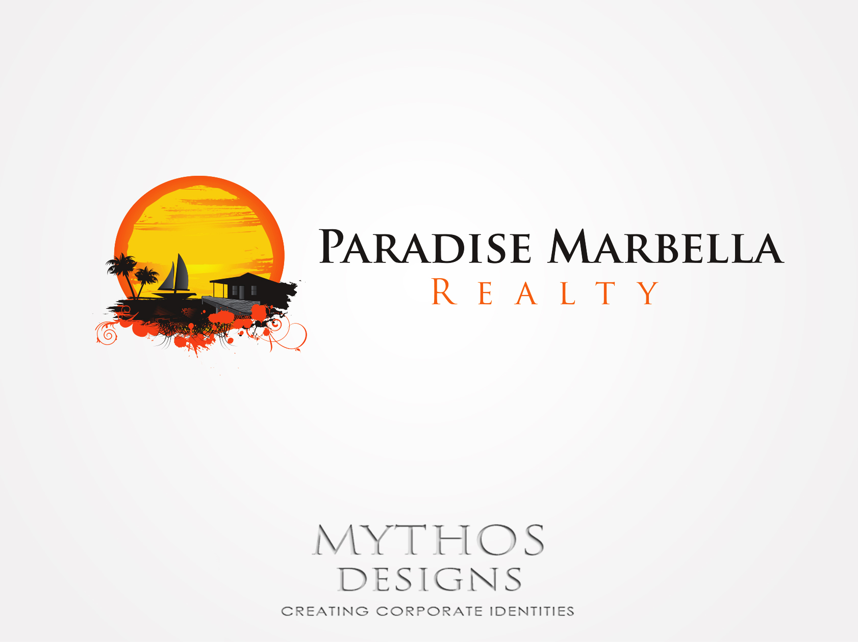 Logo Design by Mythos Designs - Entry No. 68 in the Logo Design Contest Captivating Logo Design for Paradise Marbella Realty.