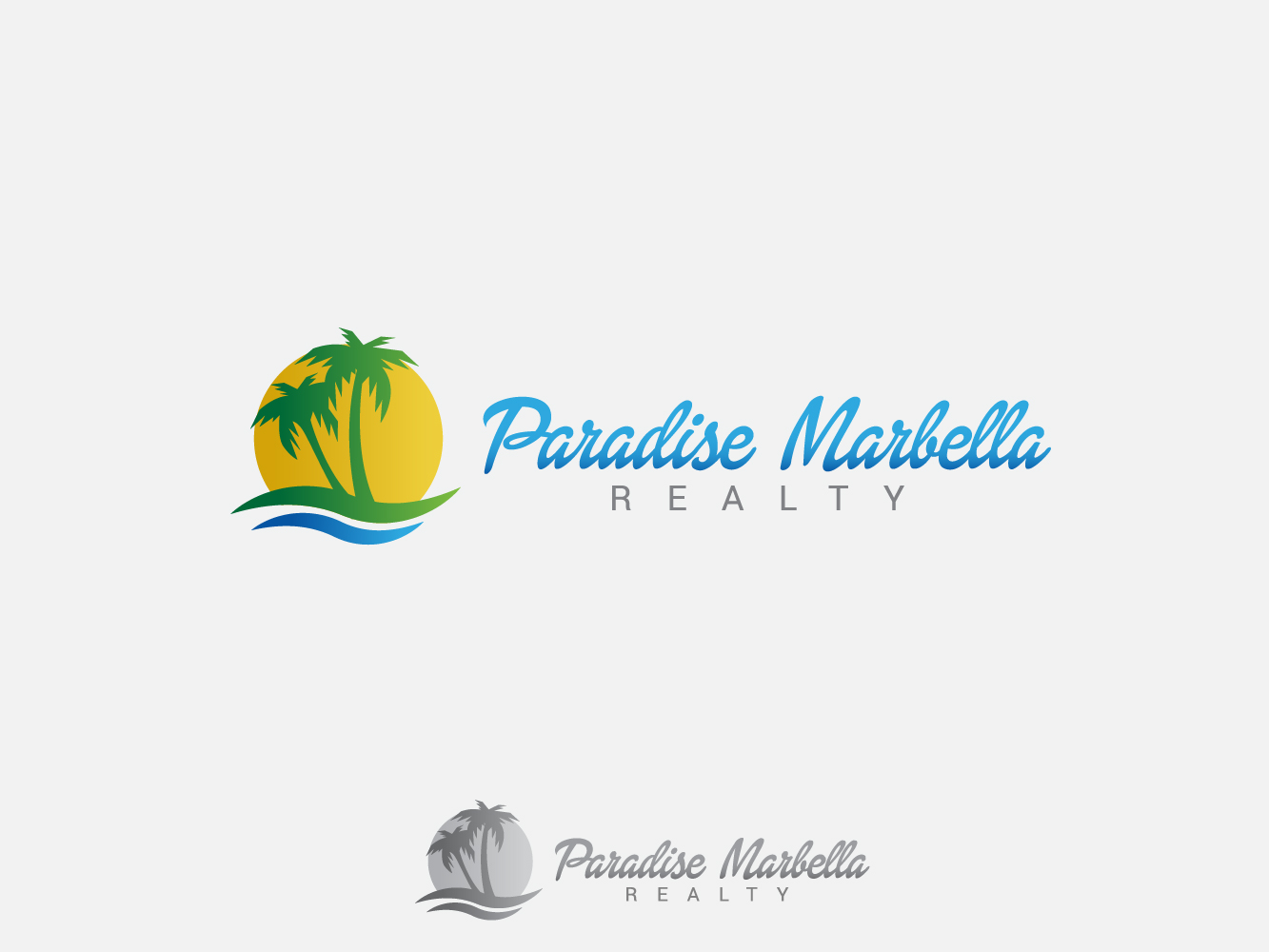 Logo Design by Jerameel Cabautan - Entry No. 69 in the Logo Design Contest Captivating Logo Design for Paradise Marbella Realty.