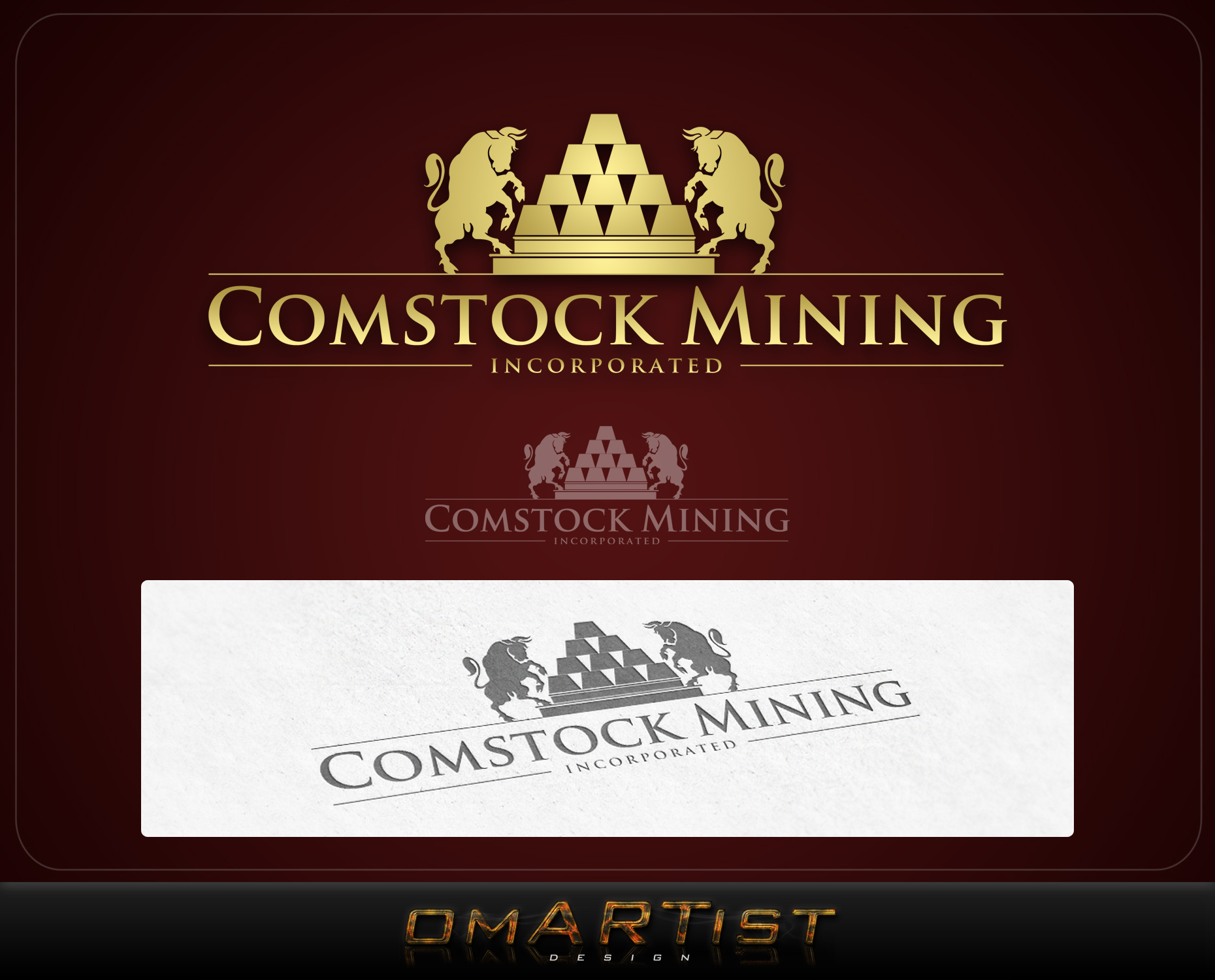 Logo Design by omARTist - Entry No. 86 in the Logo Design Contest Captivating Logo Design for Comstock Mining, Inc..