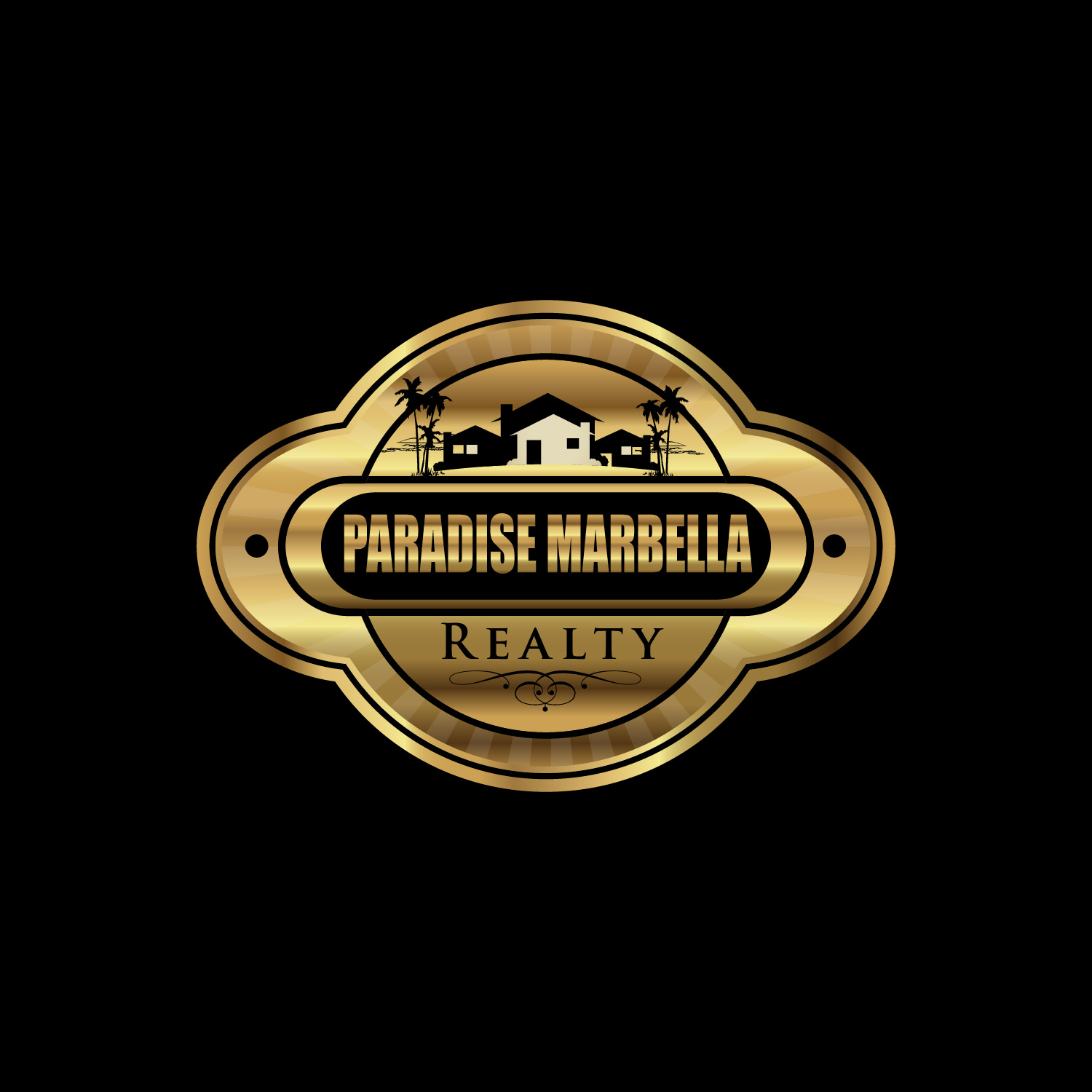 Logo Design by lagalag - Entry No. 76 in the Logo Design Contest Captivating Logo Design for Paradise Marbella Realty.