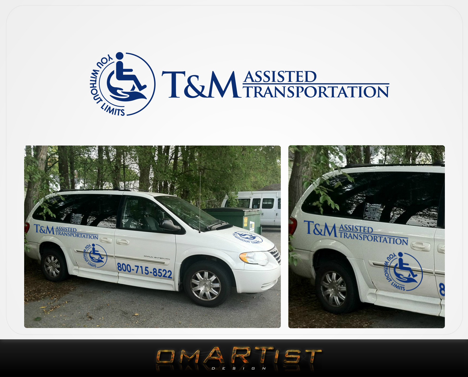 Logo Design by omARTist - Entry No. 60 in the Logo Design Contest Artistic Logo Design for T & M.