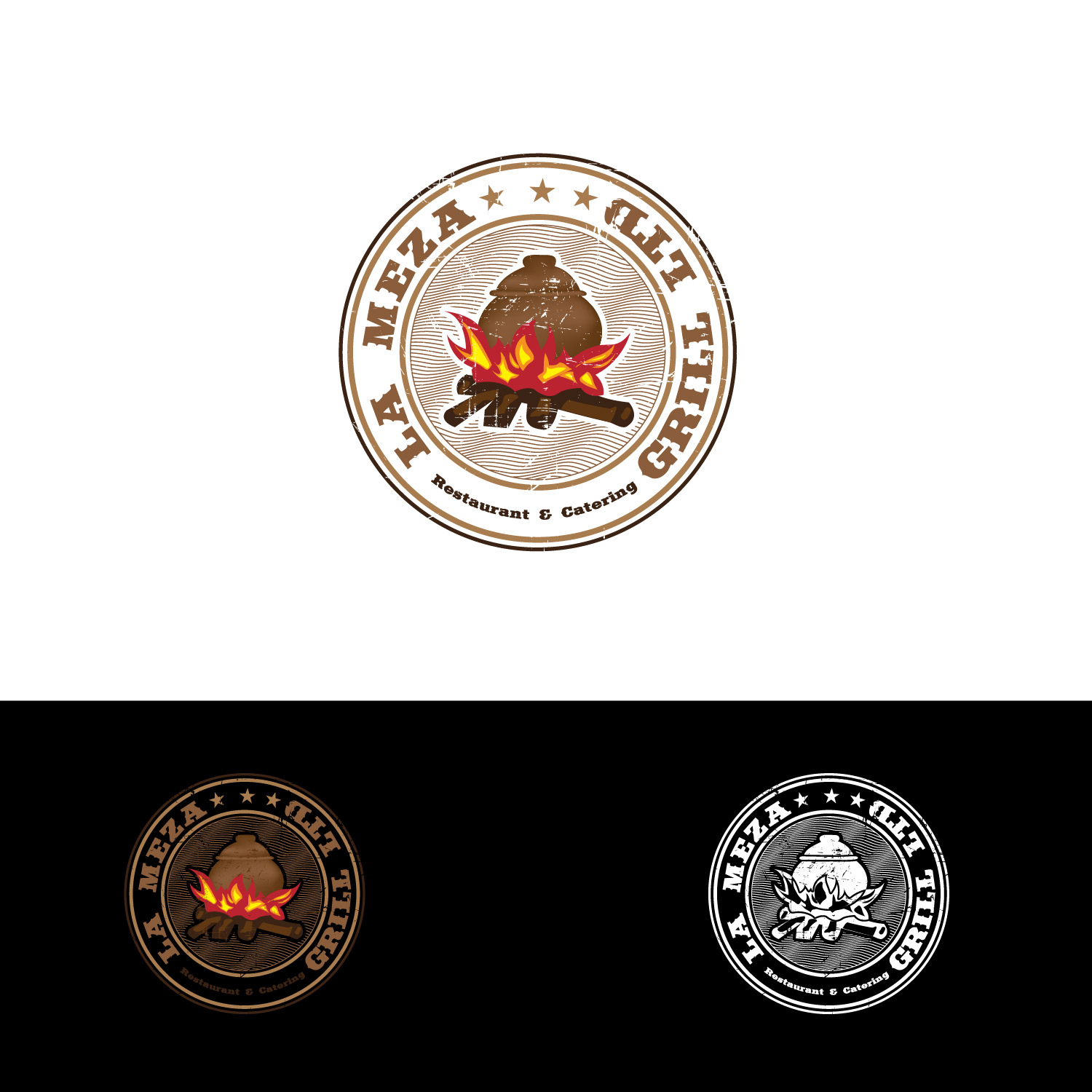 Logo Design by lagalag - Entry No. 33 in the Logo Design Contest Inspiring Logo Design for La Meza Grill Ltd..