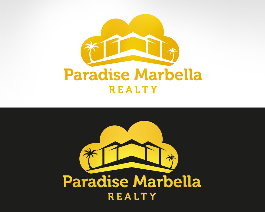 Logo Design by mungom - Entry No. 85 in the Logo Design Contest Captivating Logo Design for Paradise Marbella Realty.