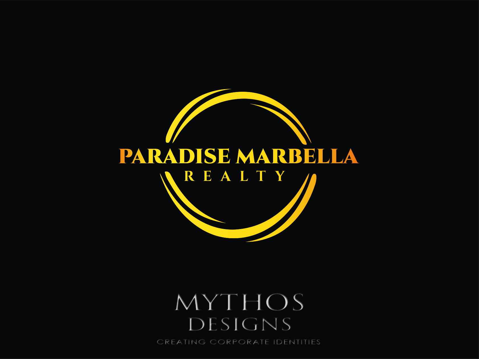 Logo Design by Mythos Designs - Entry No. 86 in the Logo Design Contest Captivating Logo Design for Paradise Marbella Realty.