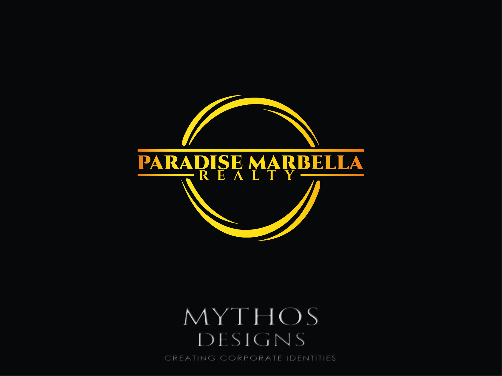 Logo Design by Mythos Designs - Entry No. 87 in the Logo Design Contest Captivating Logo Design for Paradise Marbella Realty.