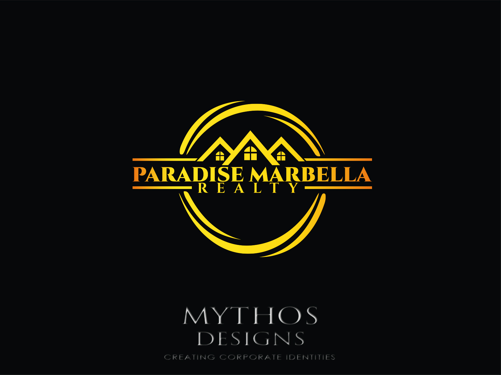 Logo Design by Mythos Designs - Entry No. 88 in the Logo Design Contest Captivating Logo Design for Paradise Marbella Realty.