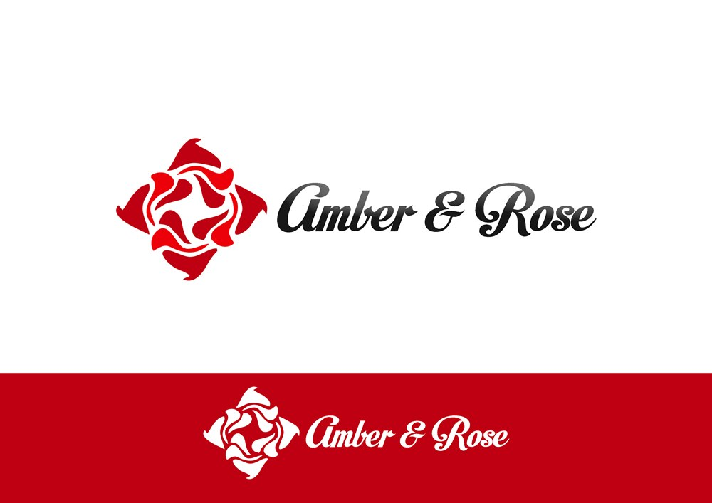 Logo Design by Respati Himawan - Entry No. 9 in the Logo Design Contest Creative Logo Design for Amber & Rose.