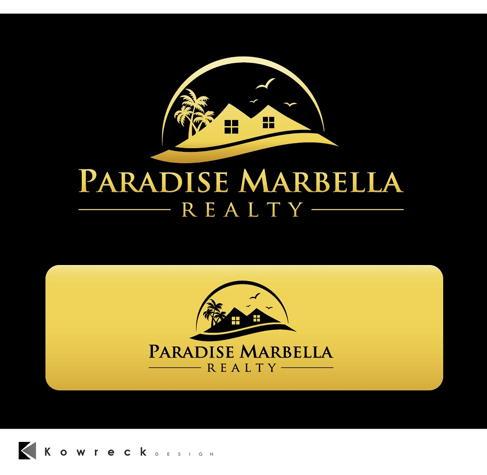 Logo Design by kowreck - Entry No. 94 in the Logo Design Contest Captivating Logo Design for Paradise Marbella Realty.
