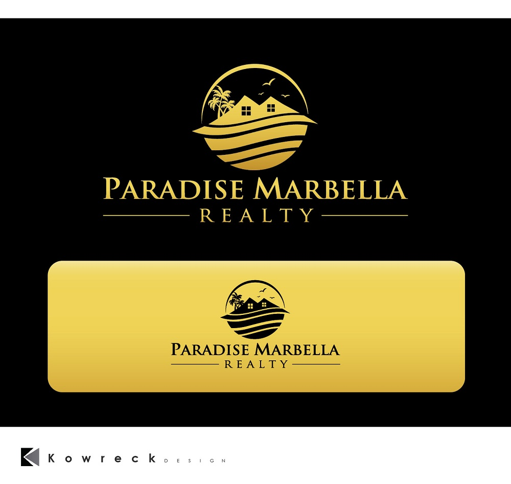 Logo Design by kowreck - Entry No. 95 in the Logo Design Contest Captivating Logo Design for Paradise Marbella Realty.
