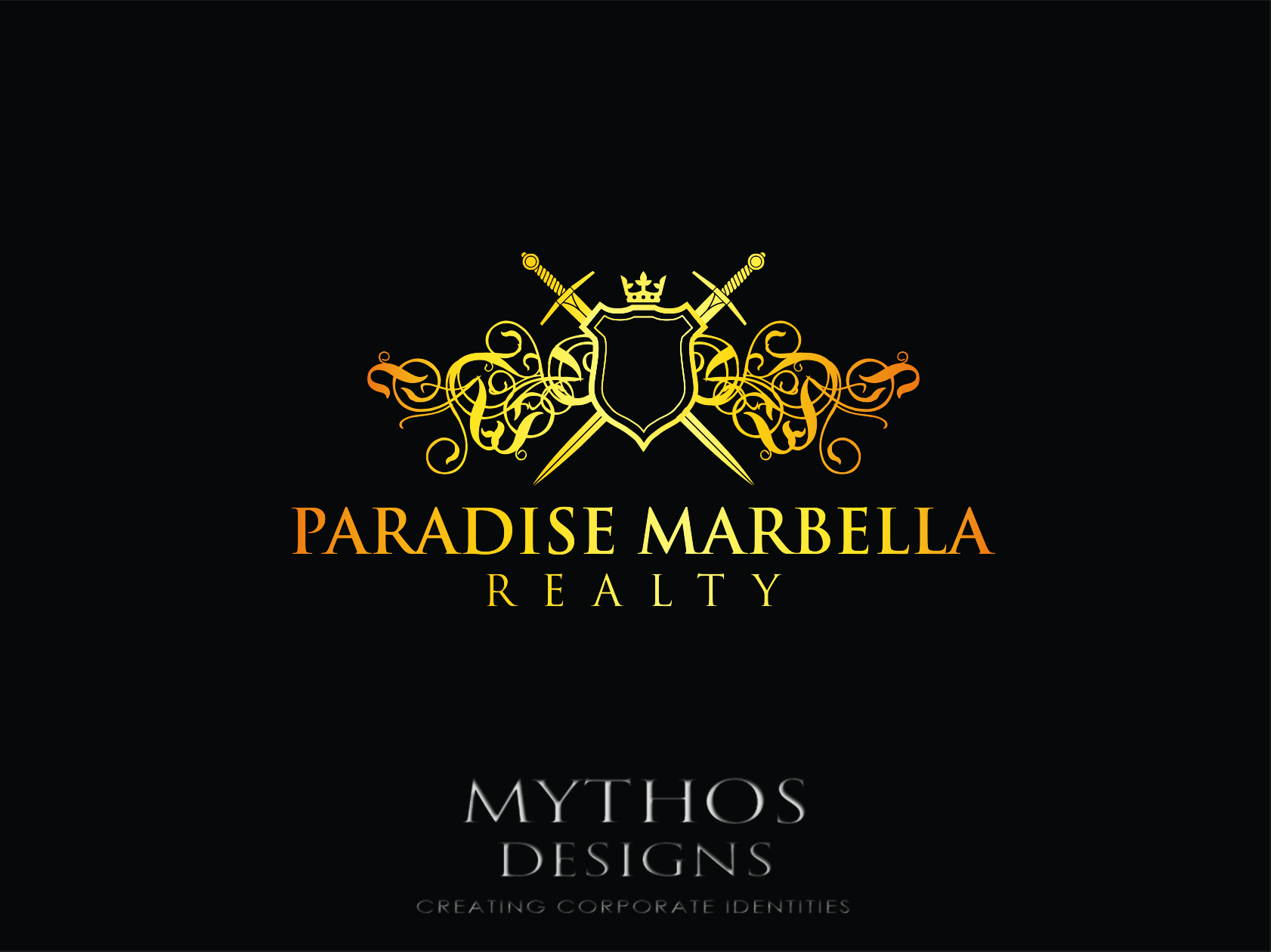 Logo Design by Mythos Designs - Entry No. 110 in the Logo Design Contest Captivating Logo Design for Paradise Marbella Realty.