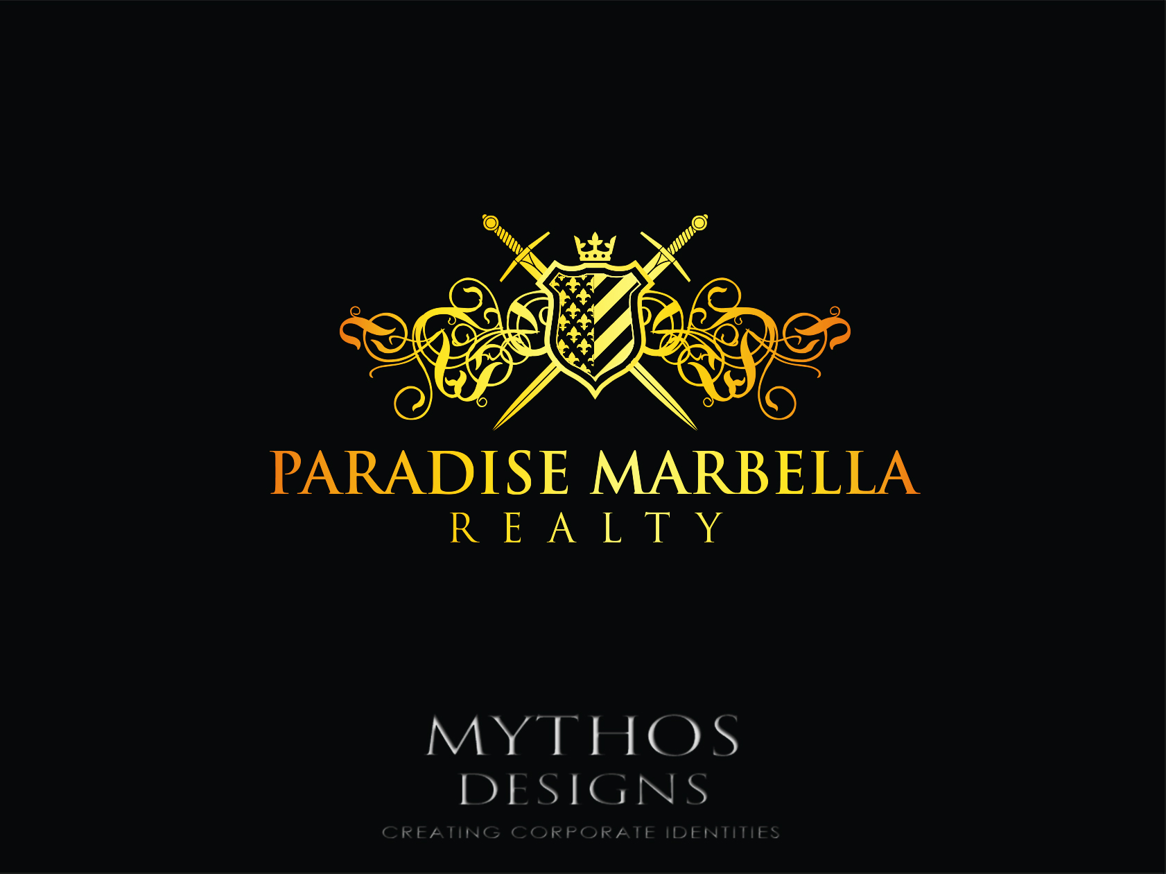 Logo Design by Mythos Designs - Entry No. 111 in the Logo Design Contest Captivating Logo Design for Paradise Marbella Realty.