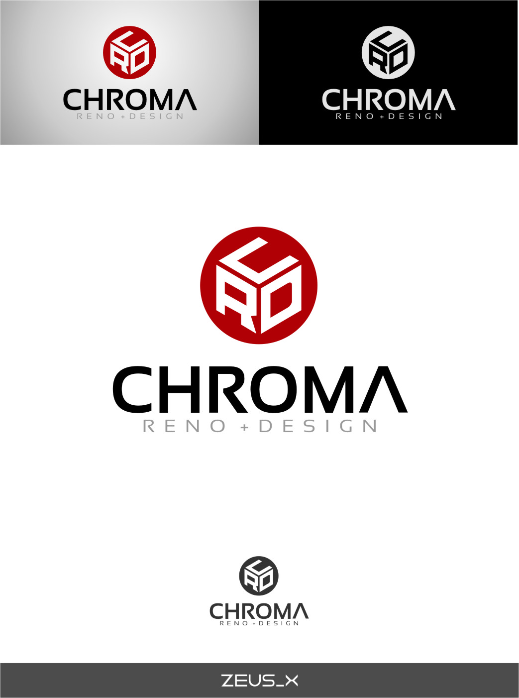 Logo Design by RasYa Muhammad Athaya - Entry No. 186 in the Logo Design Contest Inspiring Logo Design for Chroma Reno+Design.