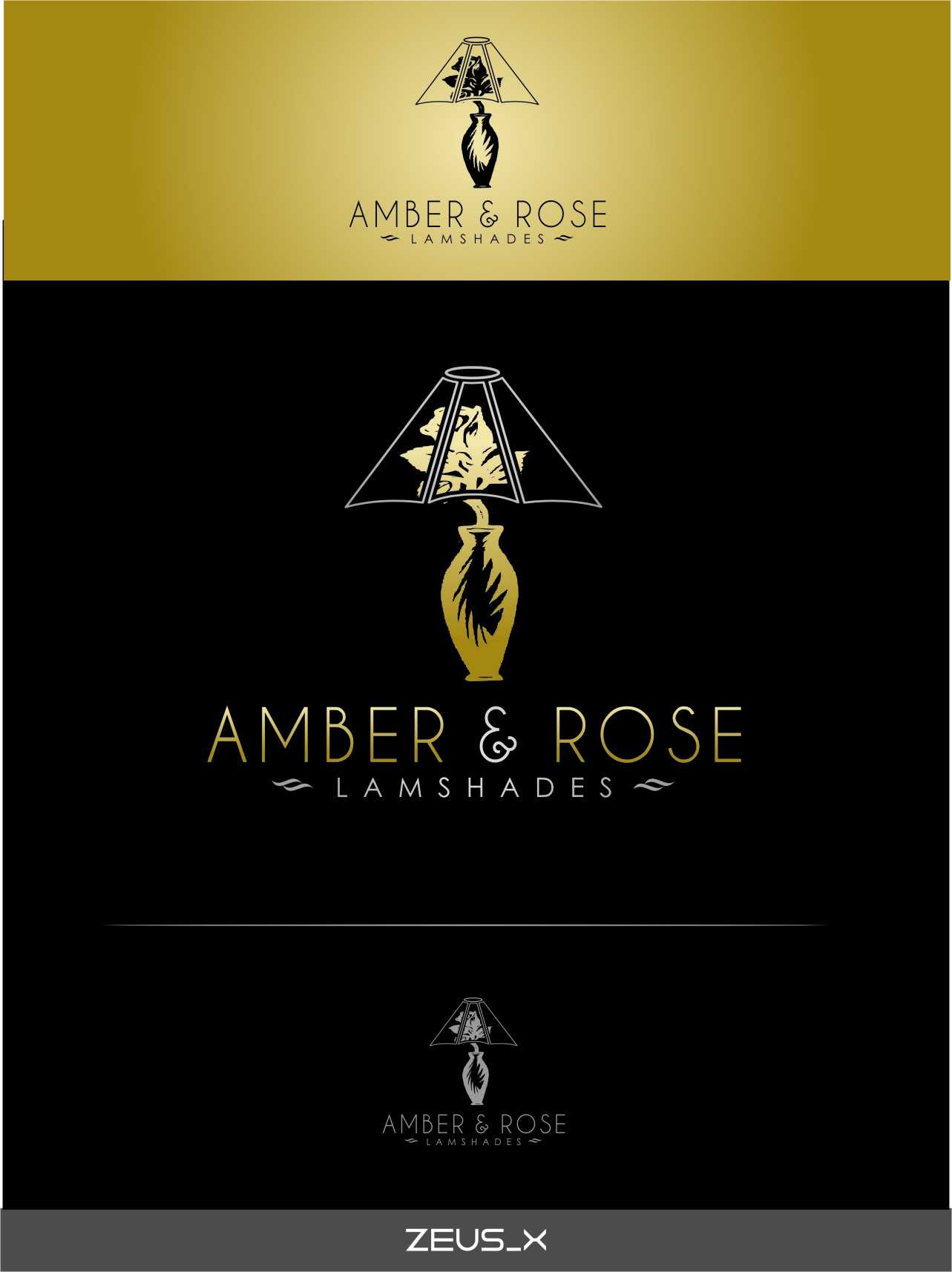 Logo Design by RoSyid Rono-Rene On Java - Entry No. 24 in the Logo Design Contest Creative Logo Design for Amber & Rose.