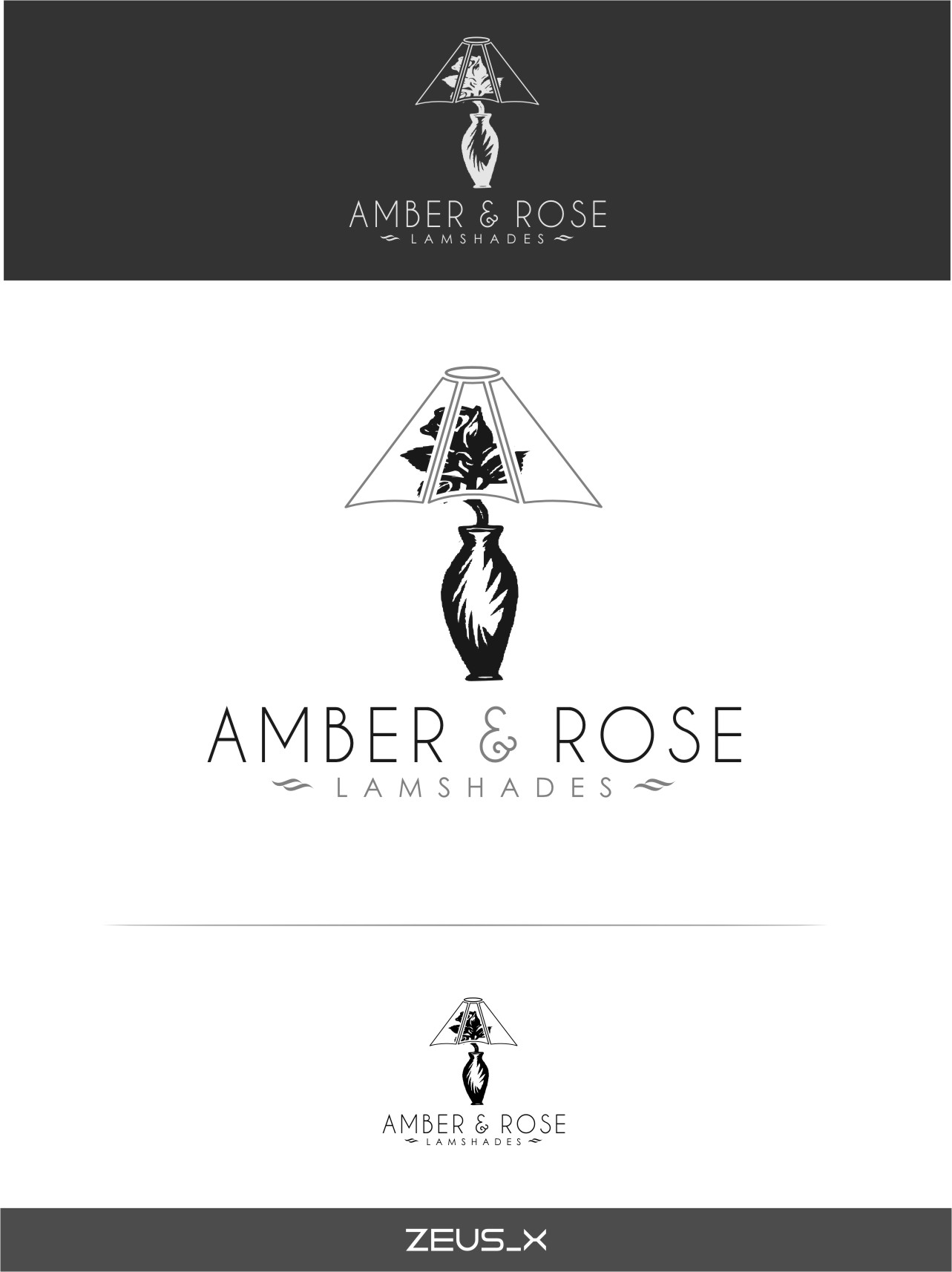 Logo Design by Ngepet_art - Entry No. 25 in the Logo Design Contest Creative Logo Design for Amber & Rose.