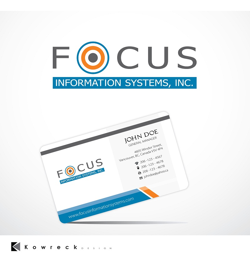 Logo Design by kowreck - Entry No. 7 in the Logo Design Contest Artistic Logo Design for Focus Information Systems, Inc..