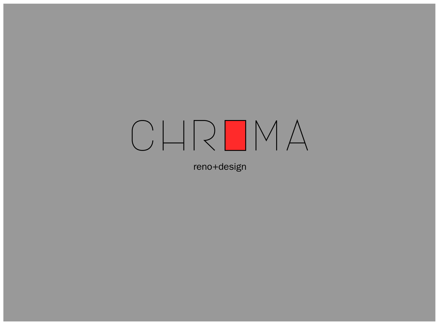Logo Design by JaroslavProcka - Entry No. 217 in the Logo Design Contest Inspiring Logo Design for Chroma Reno+Design.