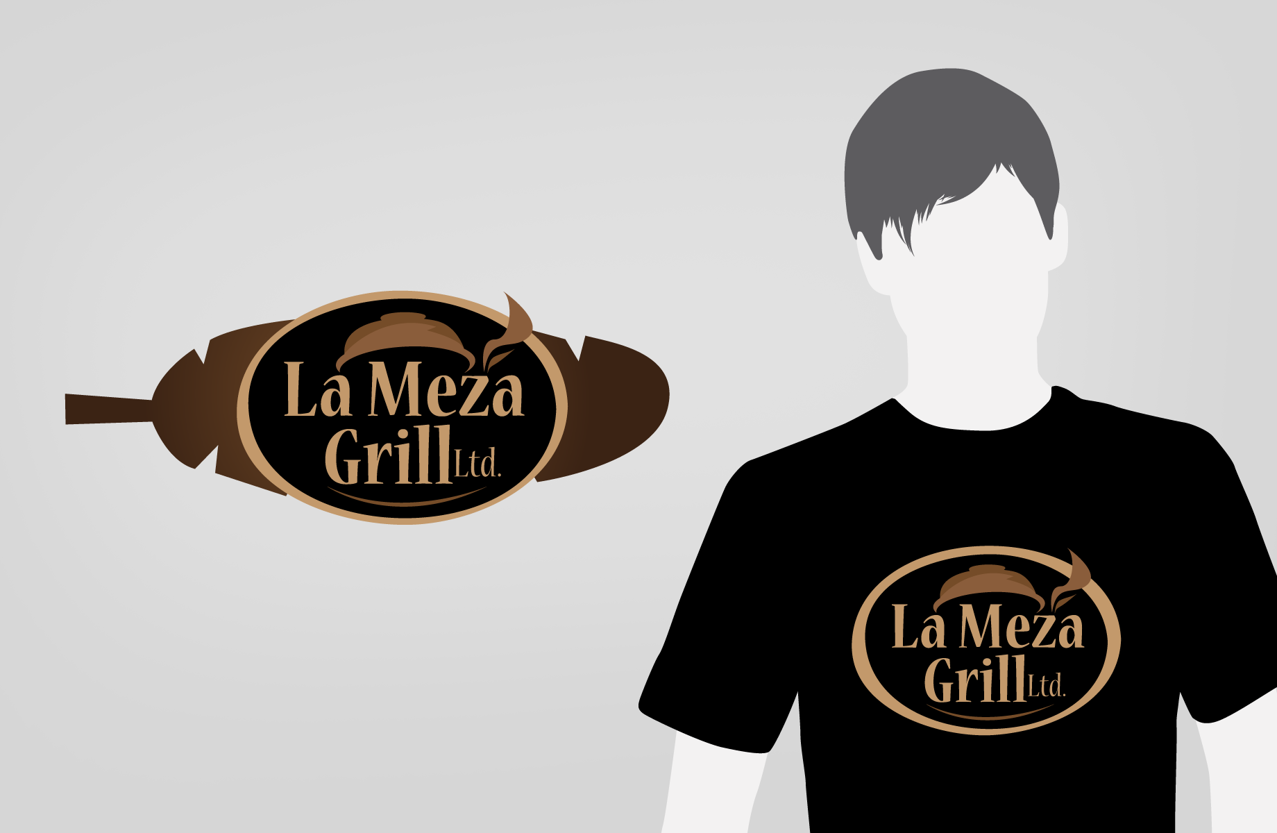 Logo Design by Jan Chua - Entry No. 52 in the Logo Design Contest Inspiring Logo Design for La Meza Grill Ltd..