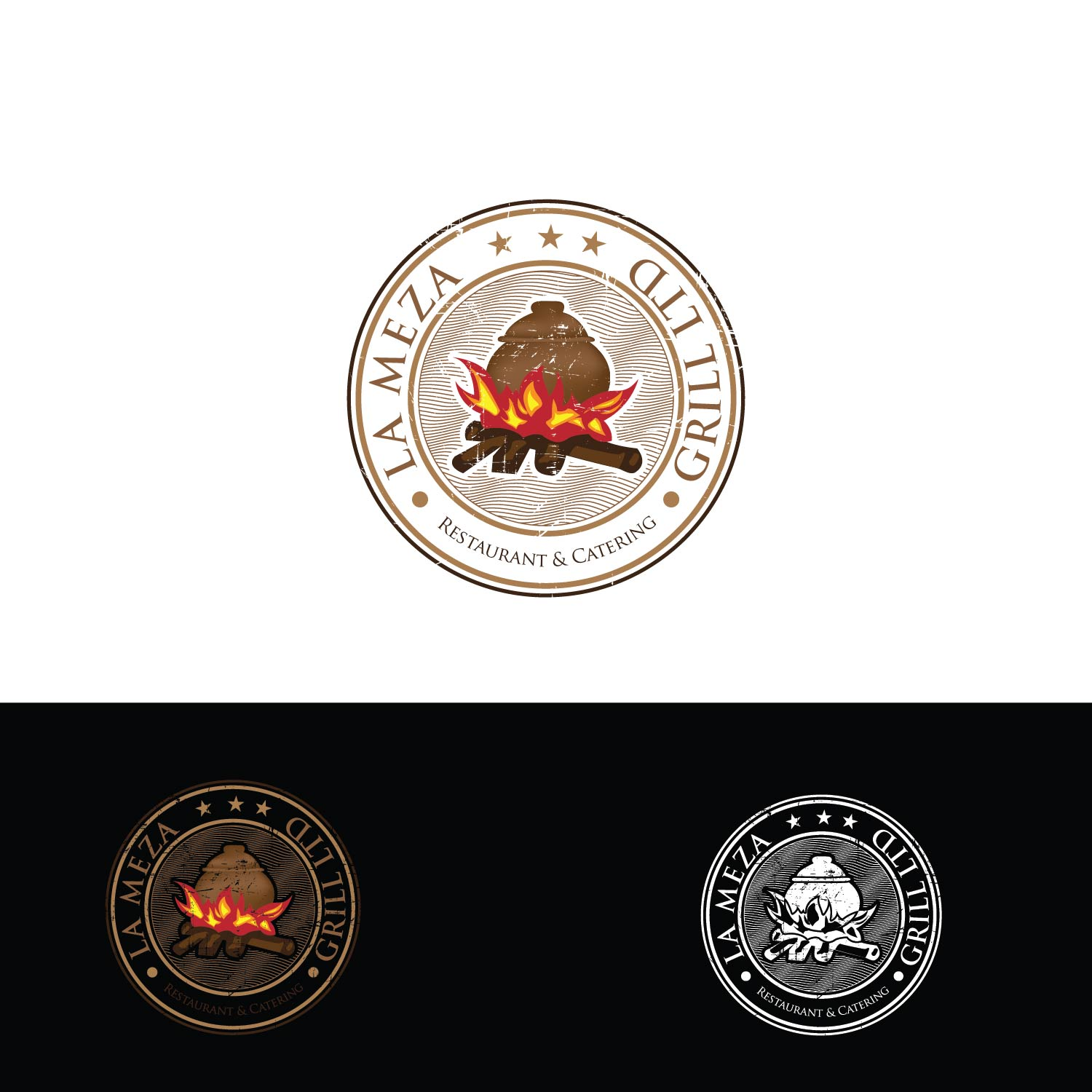 Logo Design by lagalag - Entry No. 60 in the Logo Design Contest Inspiring Logo Design for La Meza Grill Ltd..