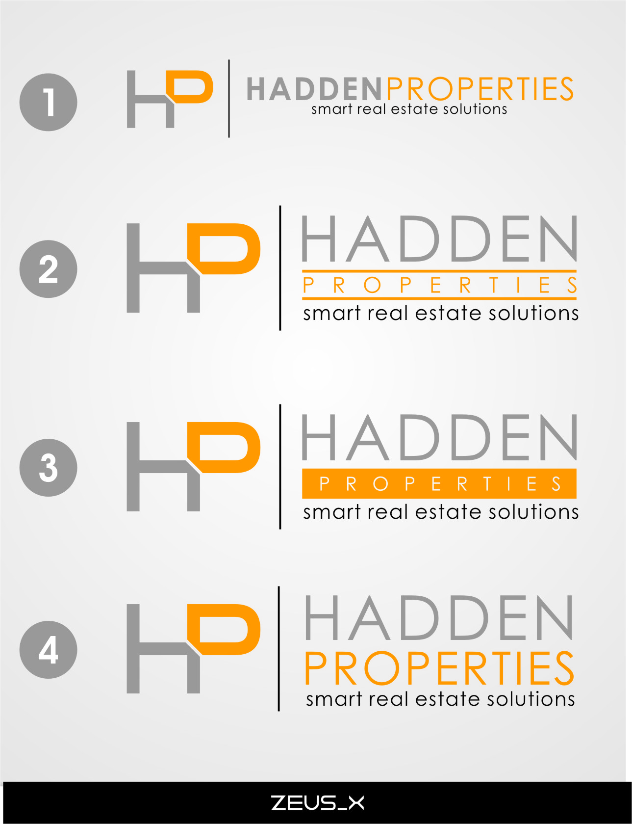 Logo Design by RasYa Muhammad Athaya - Entry No. 175 in the Logo Design Contest Artistic Logo Design for Hadden Properties.
