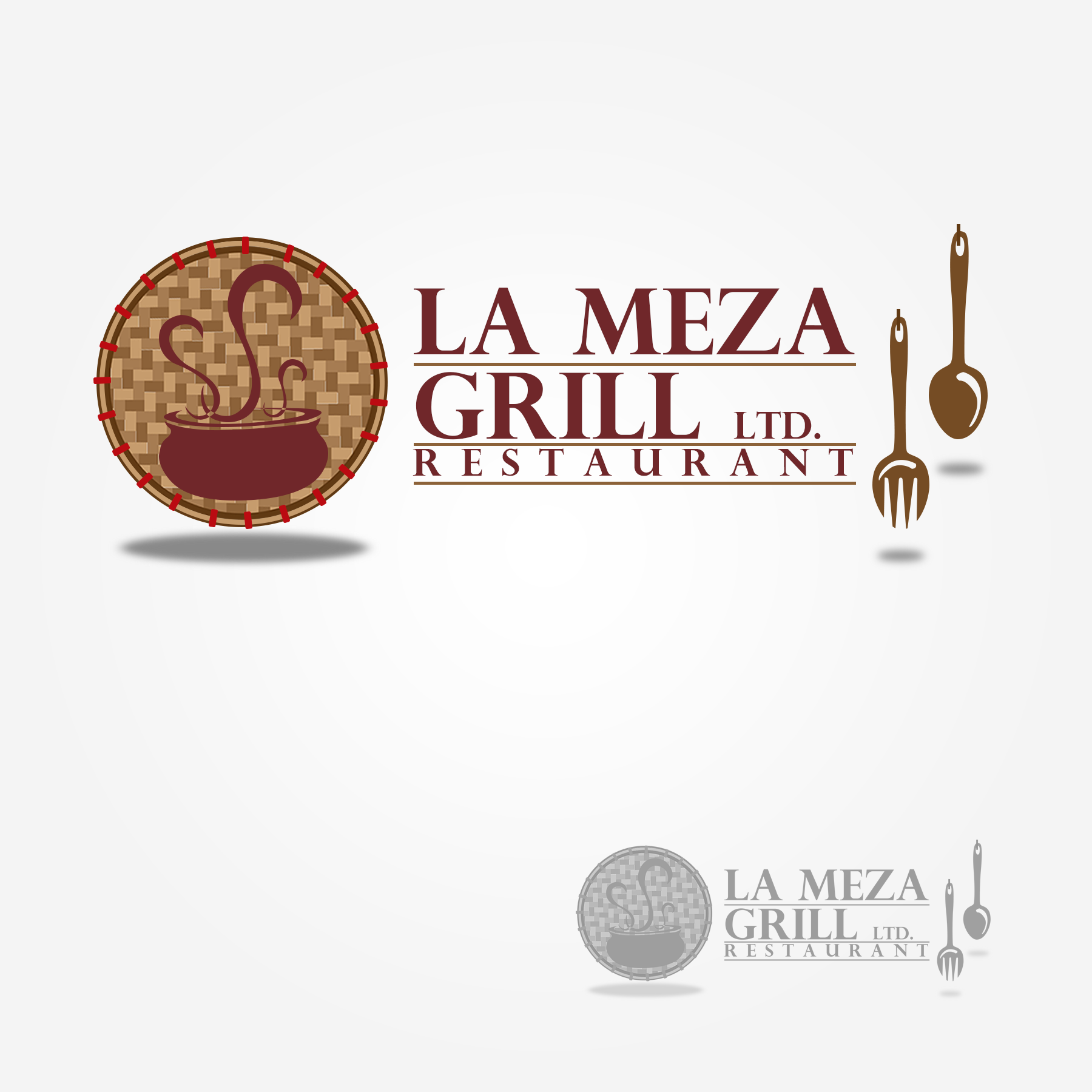 Logo Design by Lemuel Arvin Tanzo - Entry No. 63 in the Logo Design Contest Inspiring Logo Design for La Meza Grill Ltd..