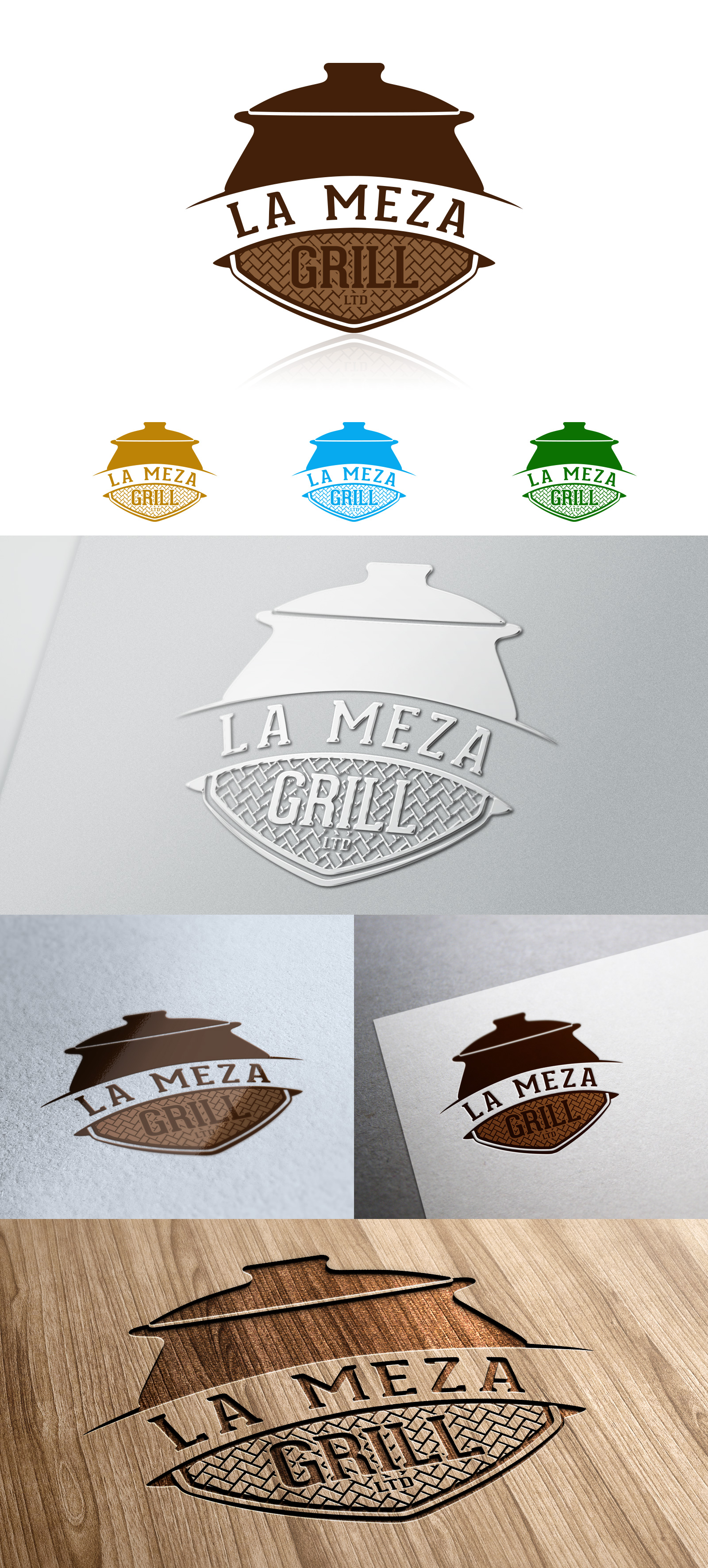 Logo Design by olii - Entry No. 72 in the Logo Design Contest Inspiring Logo Design for La Meza Grill Ltd..