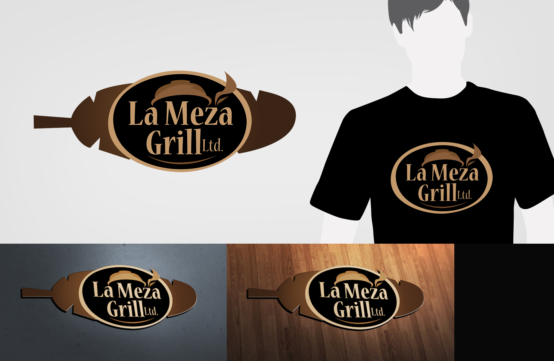 Logo Design by Jan Chua - Entry No. 73 in the Logo Design Contest Inspiring Logo Design for La Meza Grill Ltd..