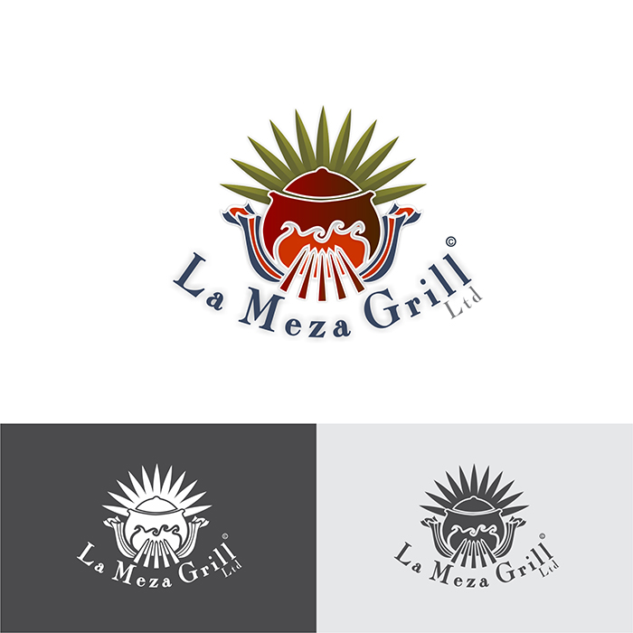 Logo Design by Think - Entry No. 74 in the Logo Design Contest Inspiring Logo Design for La Meza Grill Ltd..