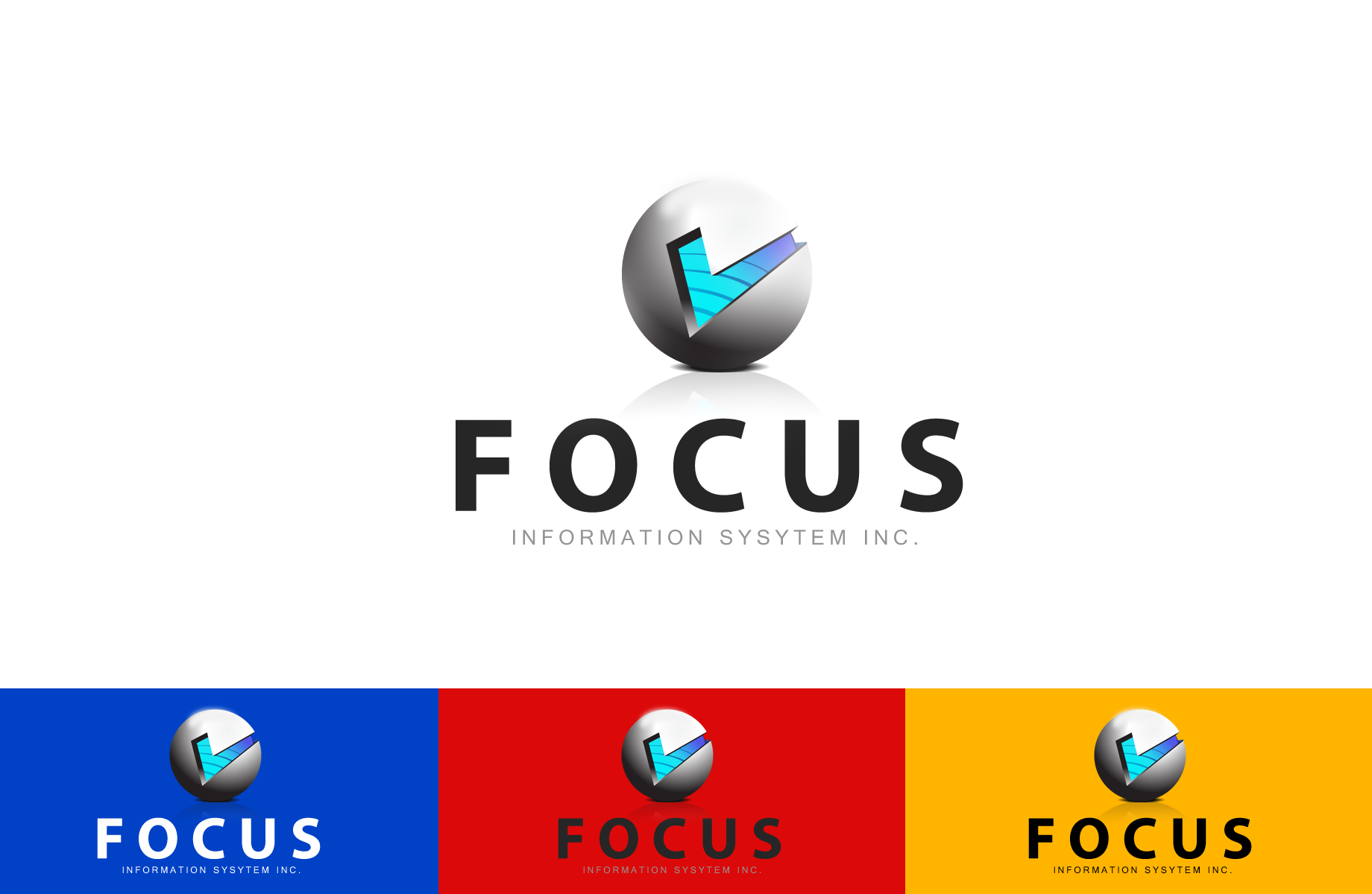 Logo Design by Jan Chua - Entry No. 29 in the Logo Design Contest Artistic Logo Design for Focus Information Systems, Inc..