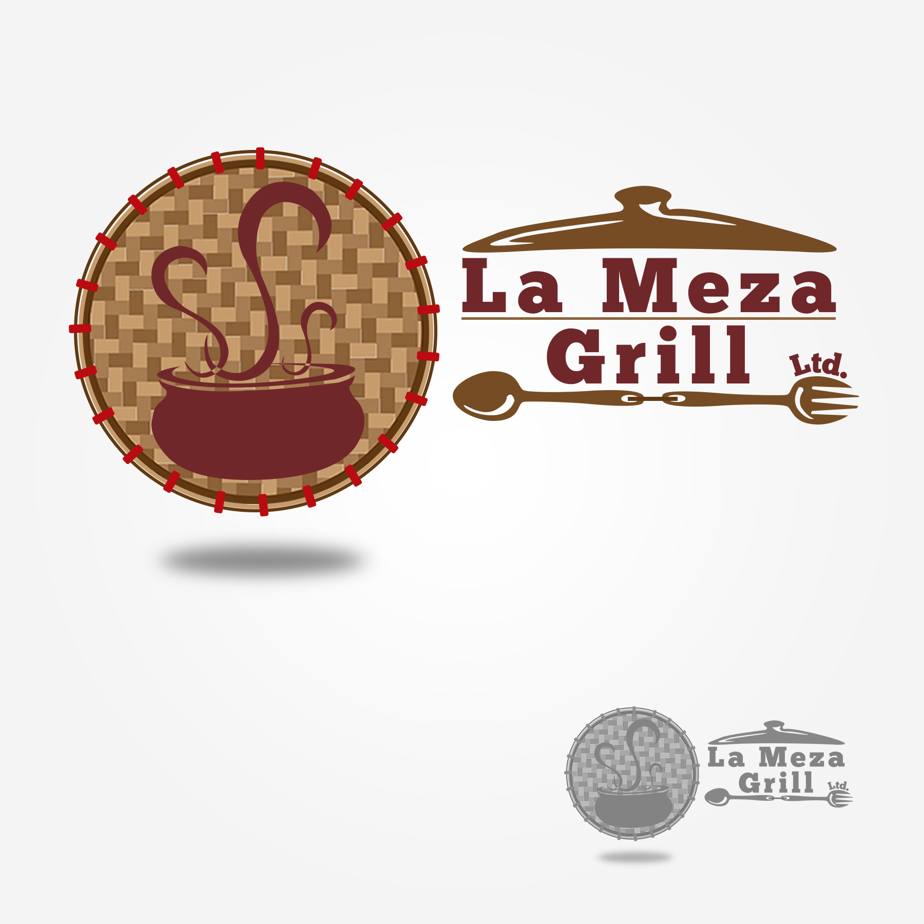 Logo Design by Lemuel Arvin Tanzo - Entry No. 79 in the Logo Design Contest Inspiring Logo Design for La Meza Grill Ltd..