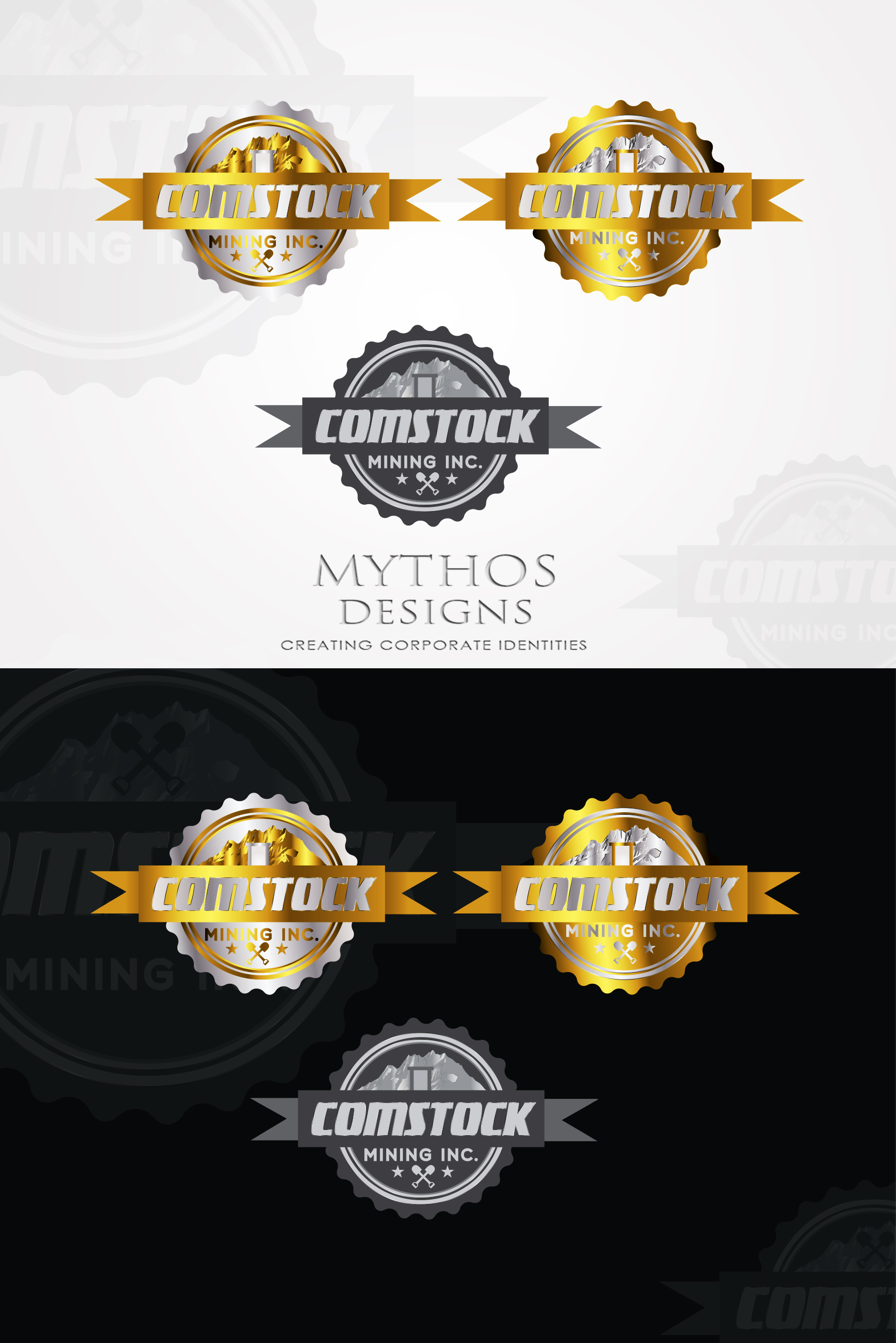 Logo Design by Mythos Designs - Entry No. 146 in the Logo Design Contest Captivating Logo Design for Comstock Mining, Inc..