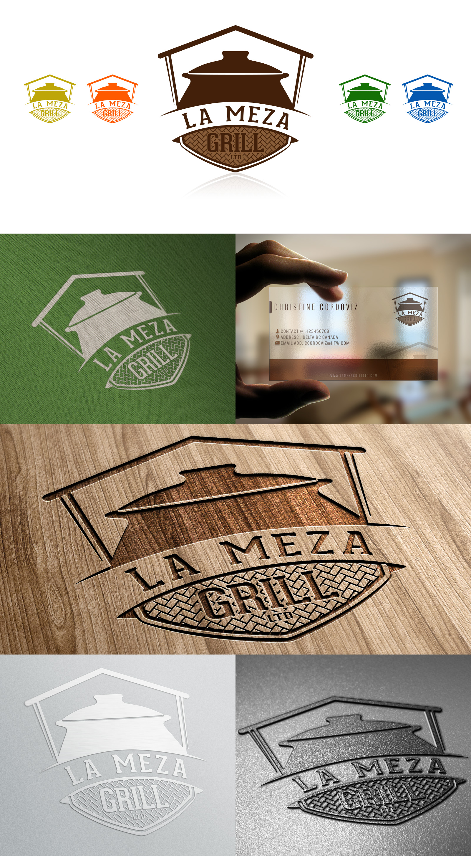Logo Design by olii - Entry No. 83 in the Logo Design Contest Inspiring Logo Design for La Meza Grill Ltd..