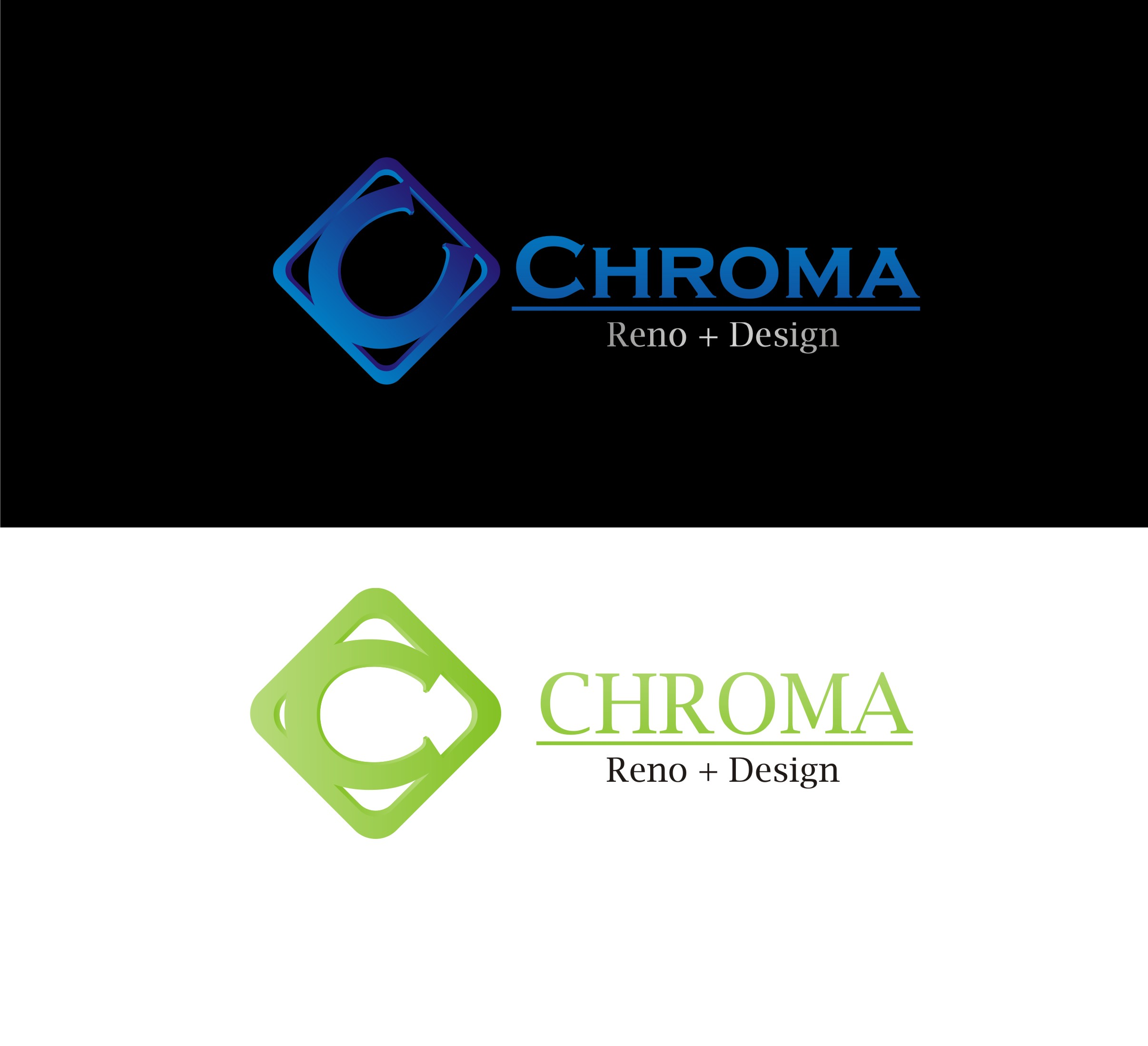 Logo Design by Yuda Hermawan - Entry No. 237 in the Logo Design Contest Inspiring Logo Design for Chroma Reno+Design.