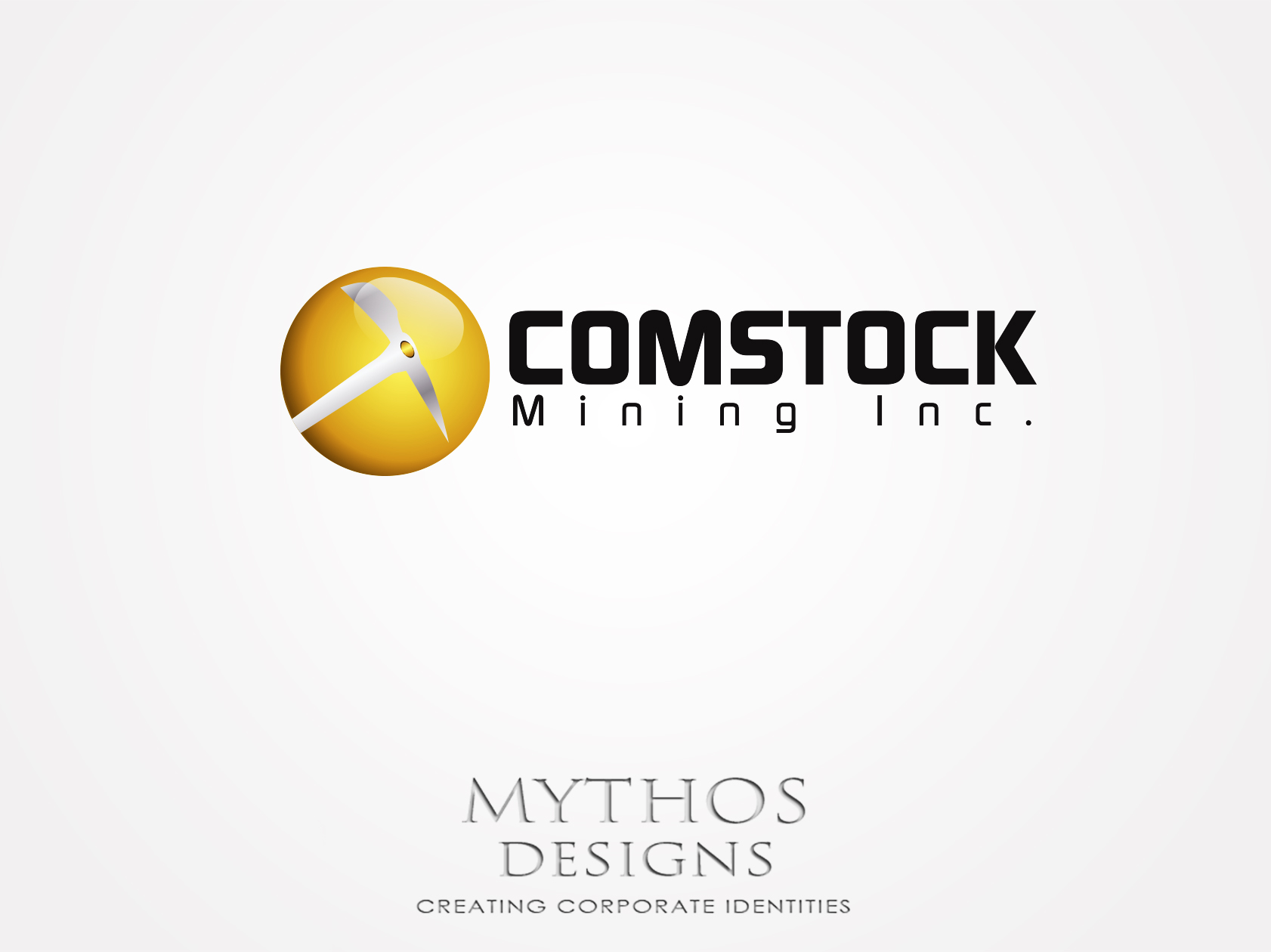 Logo Design by Mythos Designs - Entry No. 159 in the Logo Design Contest Captivating Logo Design for Comstock Mining, Inc..