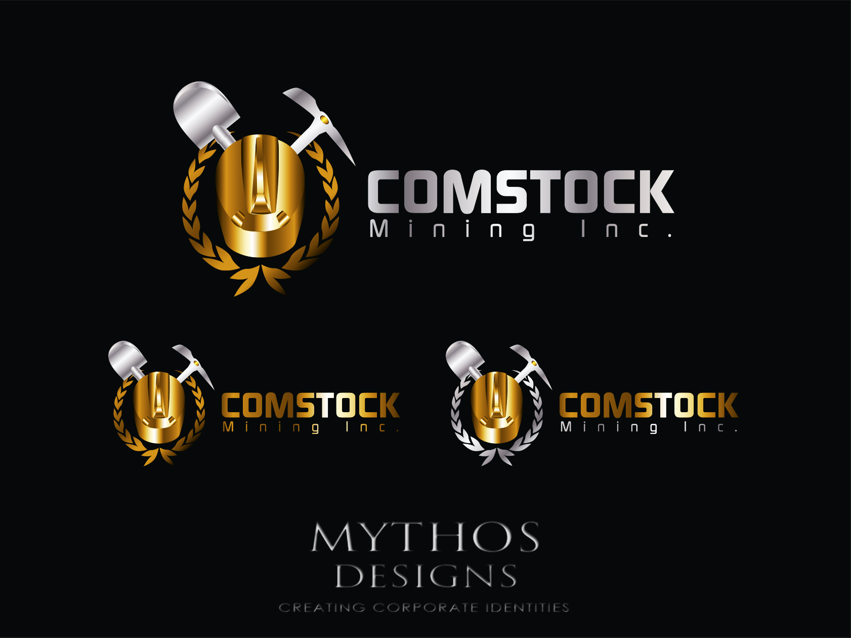 Logo Design by Mythos Designs - Entry No. 161 in the Logo Design Contest Captivating Logo Design for Comstock Mining, Inc..