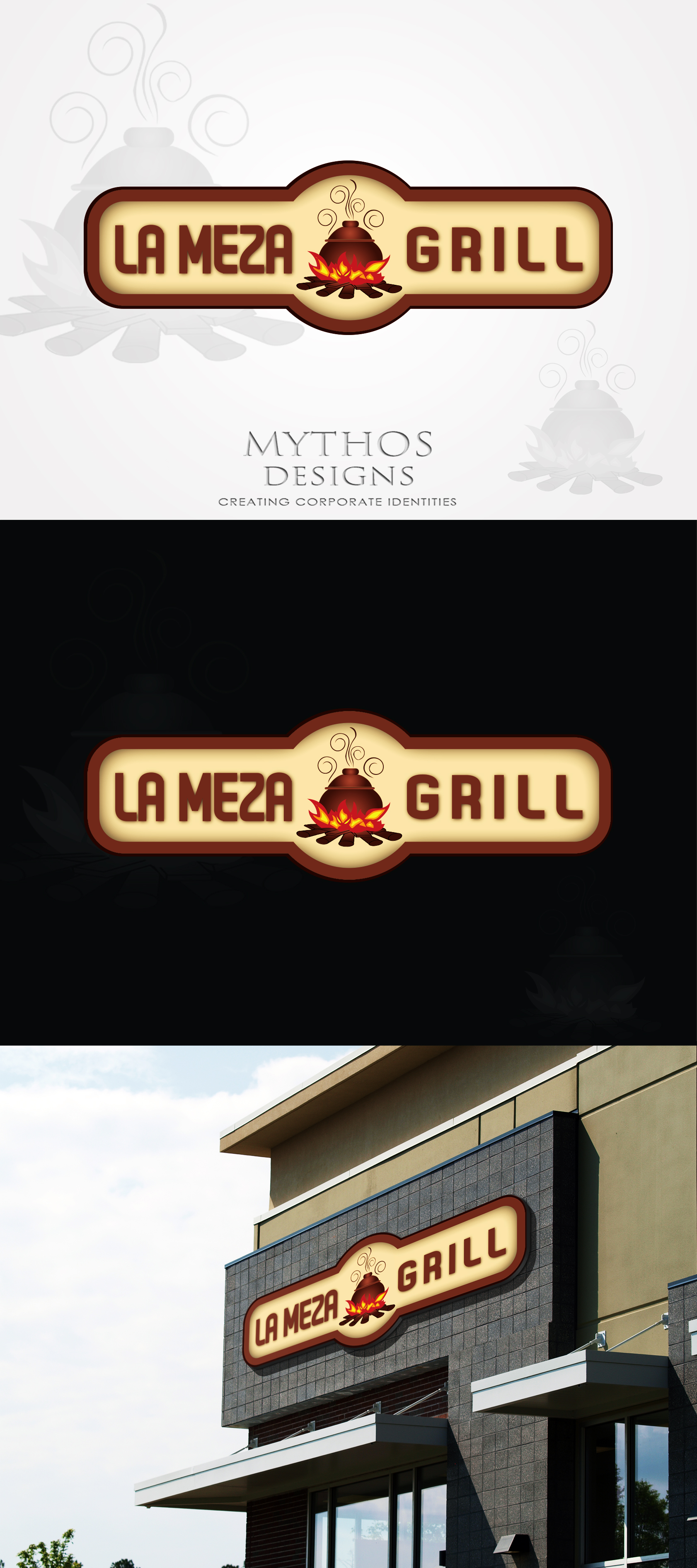 Logo Design by Mythos Designs - Entry No. 87 in the Logo Design Contest Inspiring Logo Design for La Meza Grill Ltd..