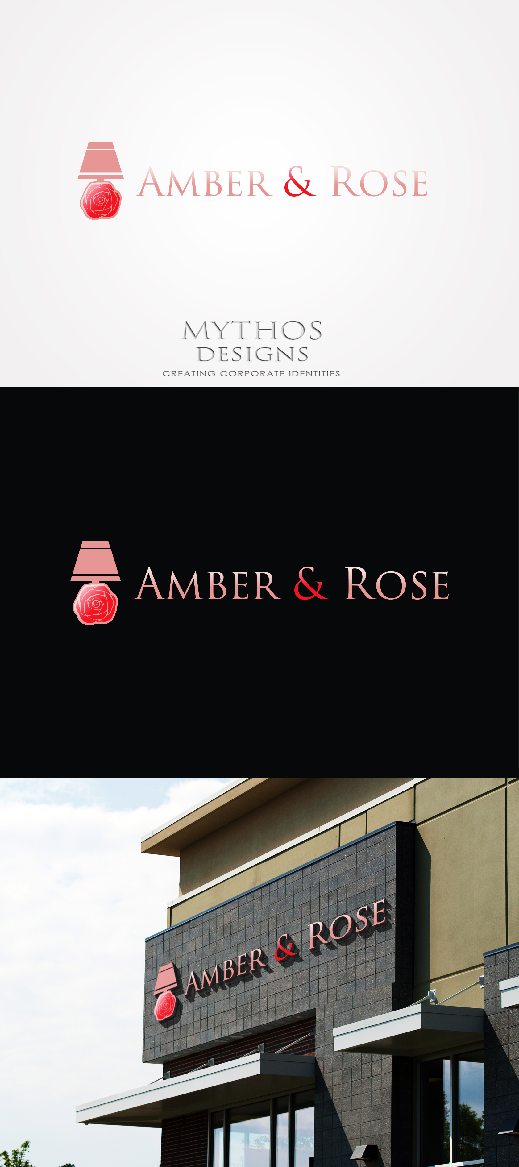 Logo Design by Mythos Designs - Entry No. 57 in the Logo Design Contest Creative Logo Design for Amber & Rose.