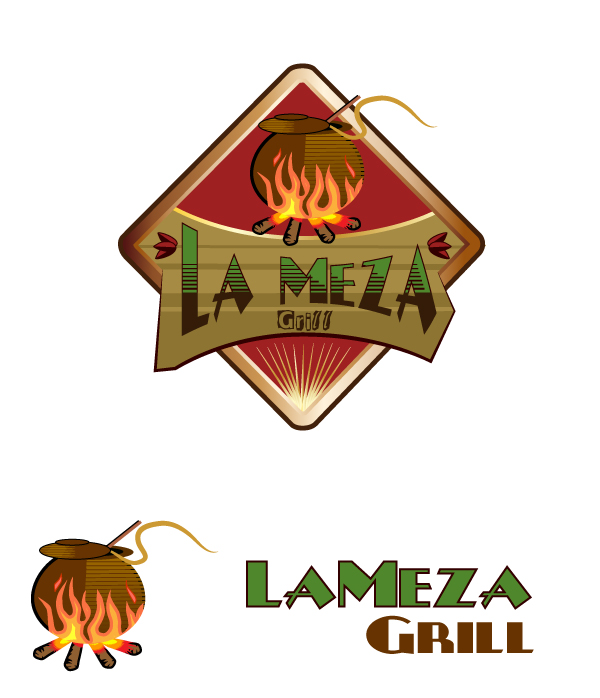 Logo Design by viewbee - Entry No. 90 in the Logo Design Contest Inspiring Logo Design for La Meza Grill Ltd..