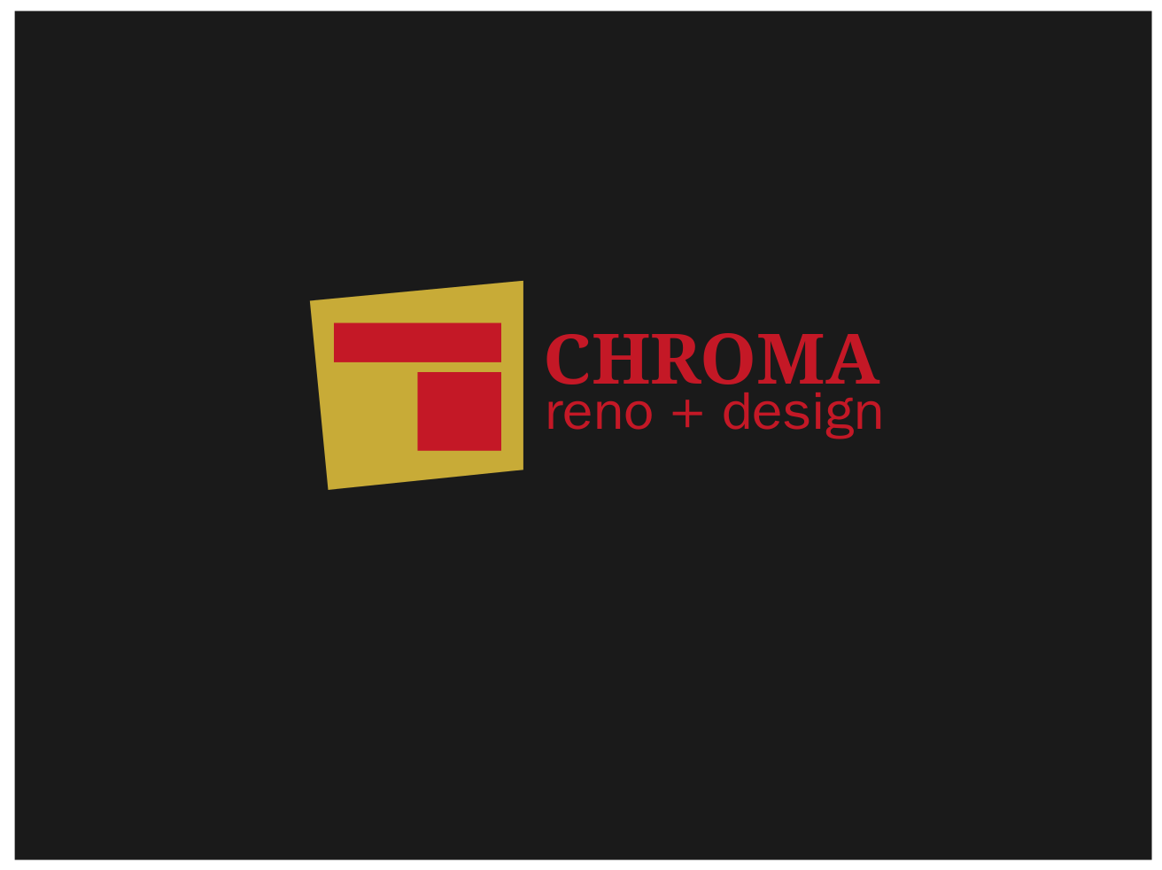 Logo Design by JaroslavProcka - Entry No. 244 in the Logo Design Contest Inspiring Logo Design for Chroma Reno+Design.
