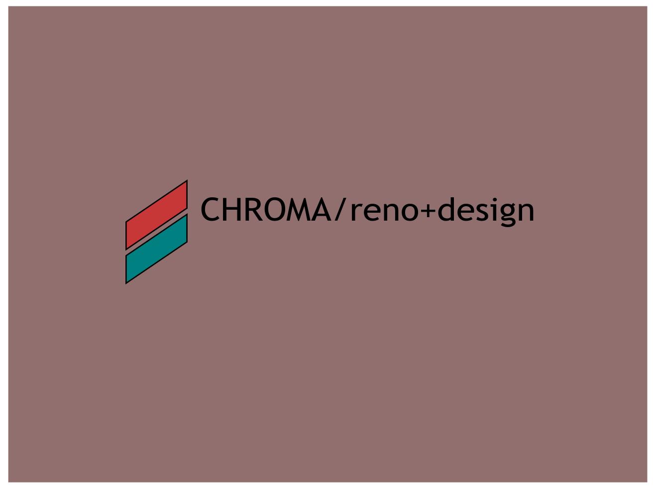 Logo Design by JaroslavProcka - Entry No. 245 in the Logo Design Contest Inspiring Logo Design for Chroma Reno+Design.