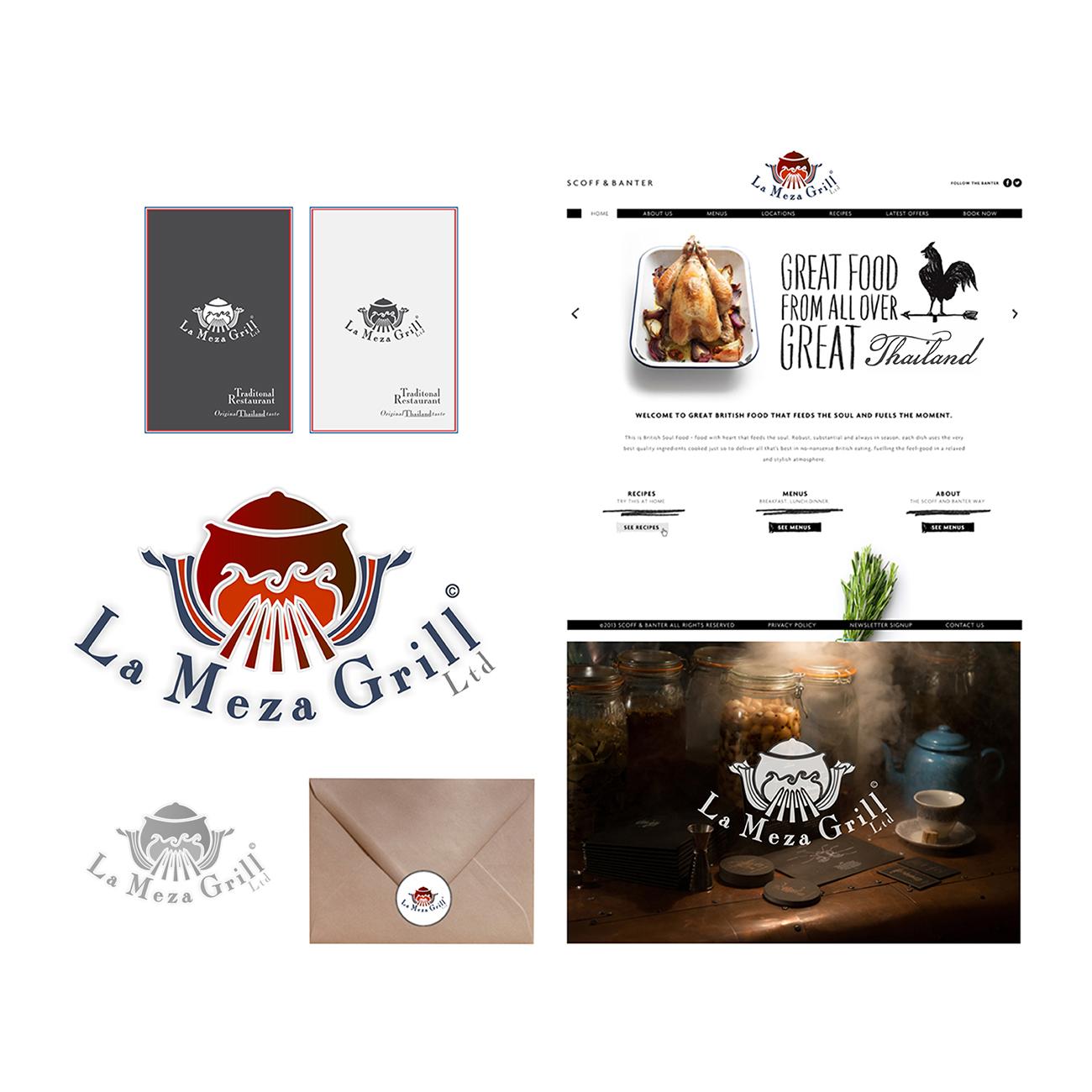 Logo Design by Think - Entry No. 92 in the Logo Design Contest Inspiring Logo Design for La Meza Grill Ltd..