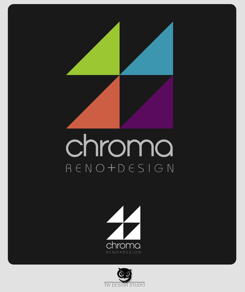 Logo Design by Private User - Entry No. 252 in the Logo Design Contest Inspiring Logo Design for Chroma Reno+Design.
