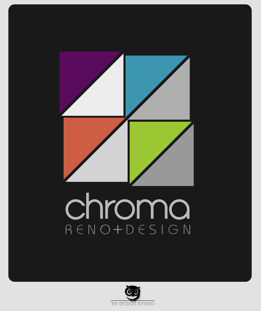 Logo Design by Private User - Entry No. 254 in the Logo Design Contest Inspiring Logo Design for Chroma Reno+Design.