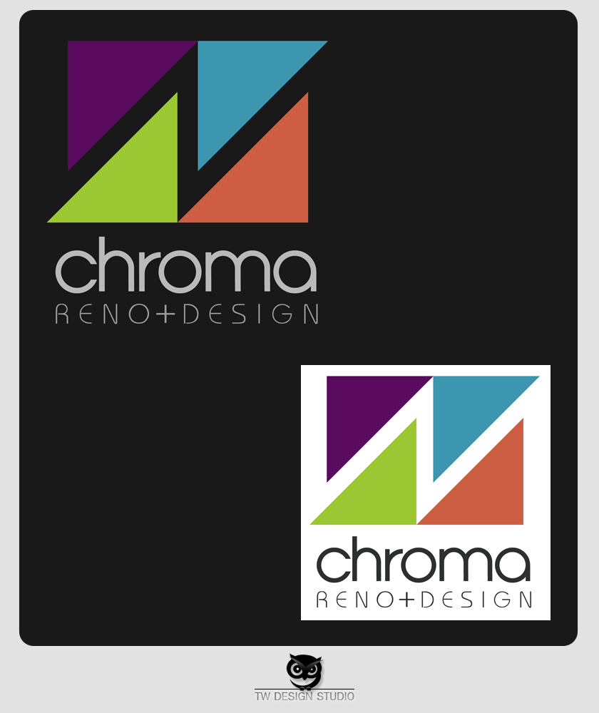 Logo Design by Private User - Entry No. 255 in the Logo Design Contest Inspiring Logo Design for Chroma Reno+Design.